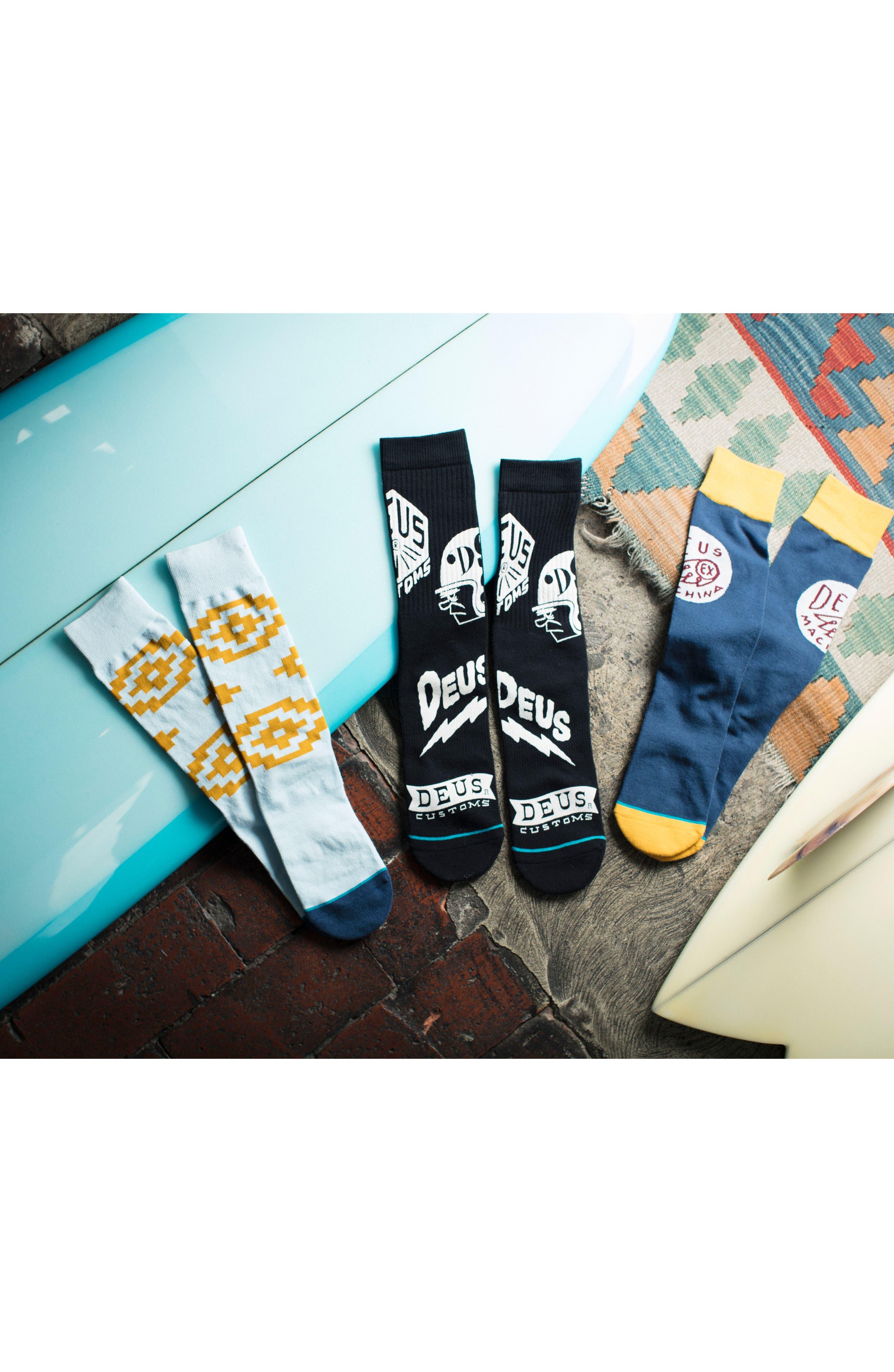 Paradise Socks,                             Alternate thumbnail 5, color,                             BLACK