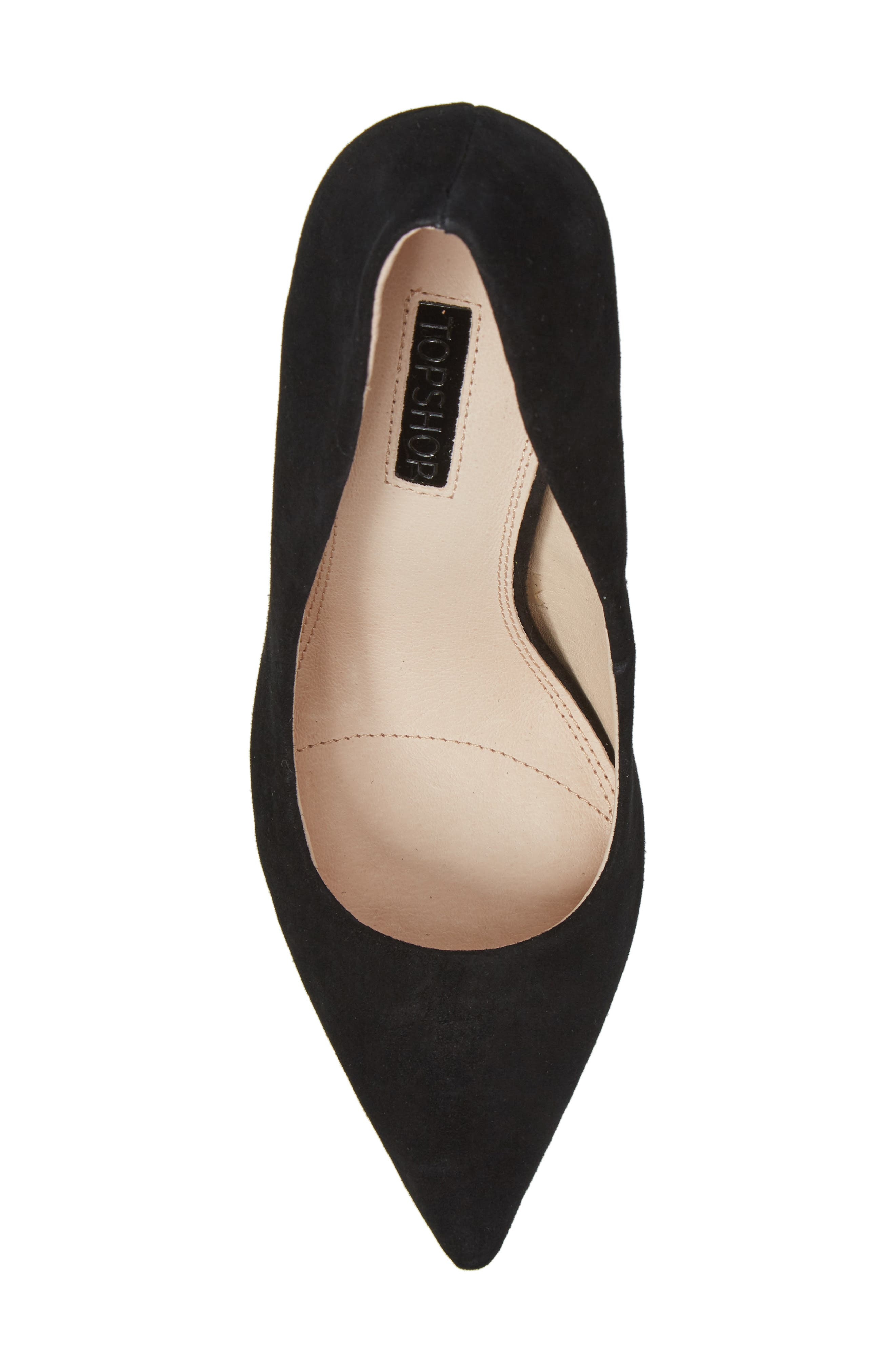 TOPSHOP,                             Grammer Pointy Toe Pump,                             Alternate thumbnail 5, color,                             001