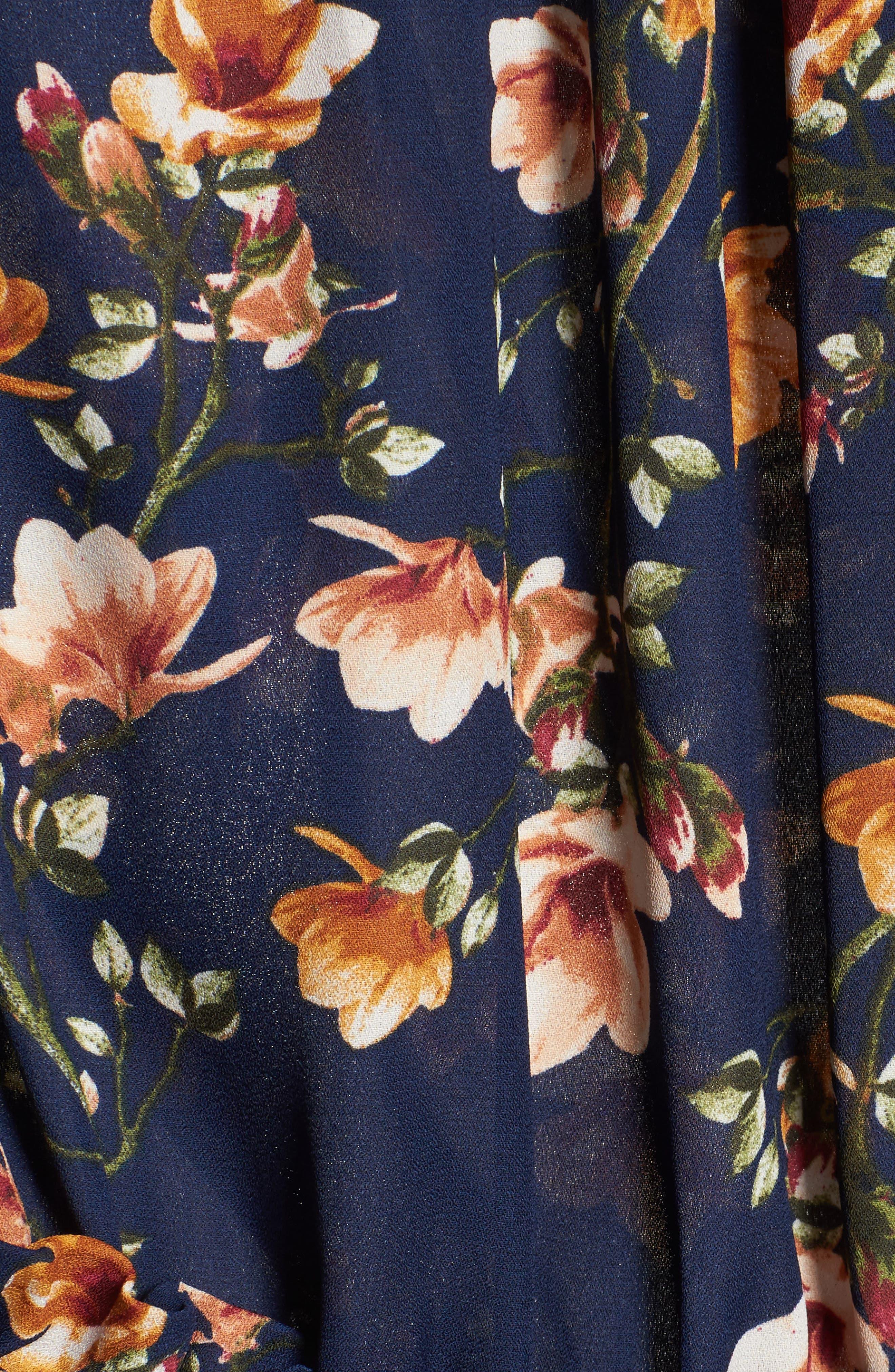 Floral Ruffle Blouse,                             Alternate thumbnail 19, color,