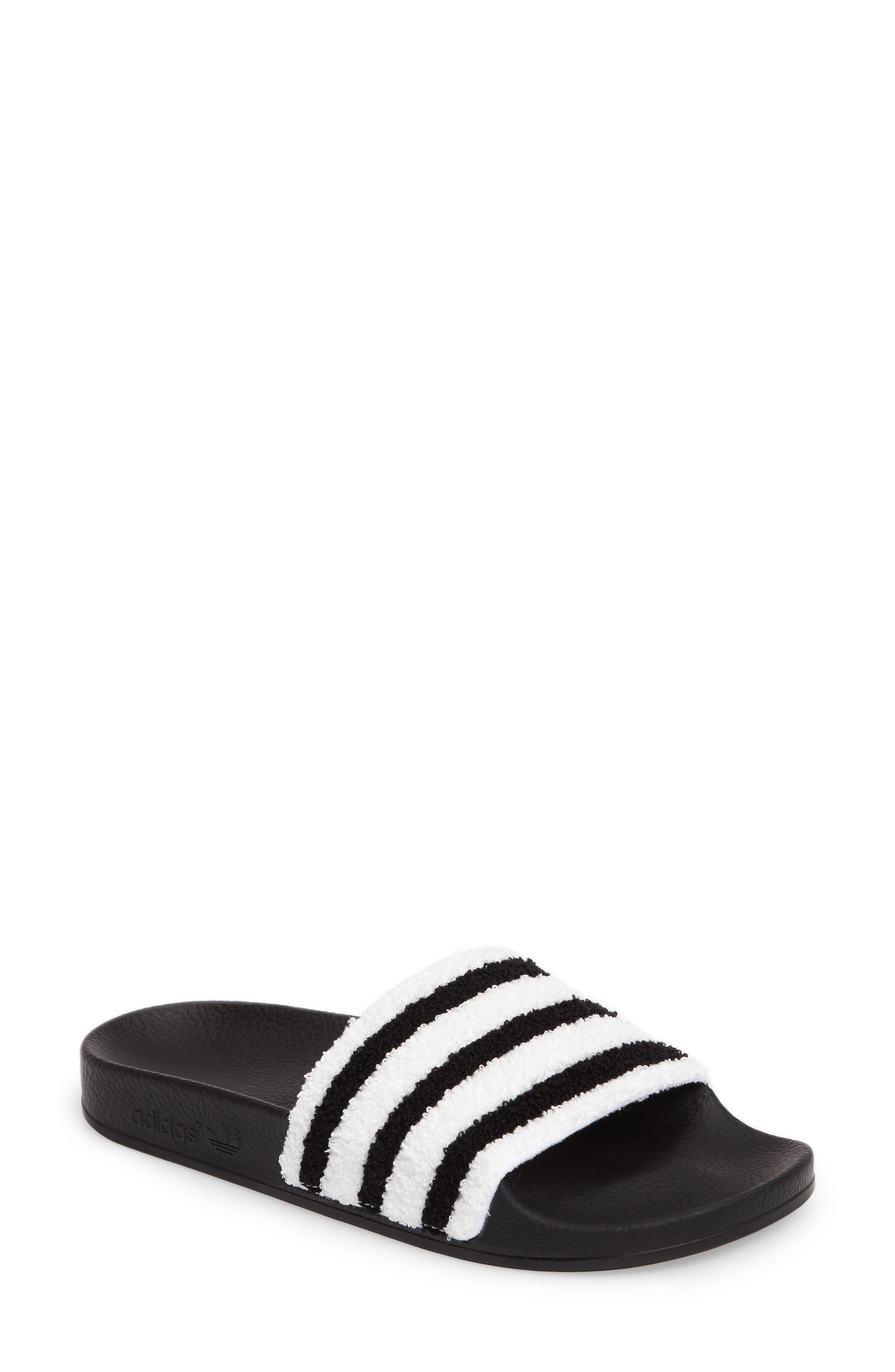 Adilette Slide Sandal, Main, color, 001