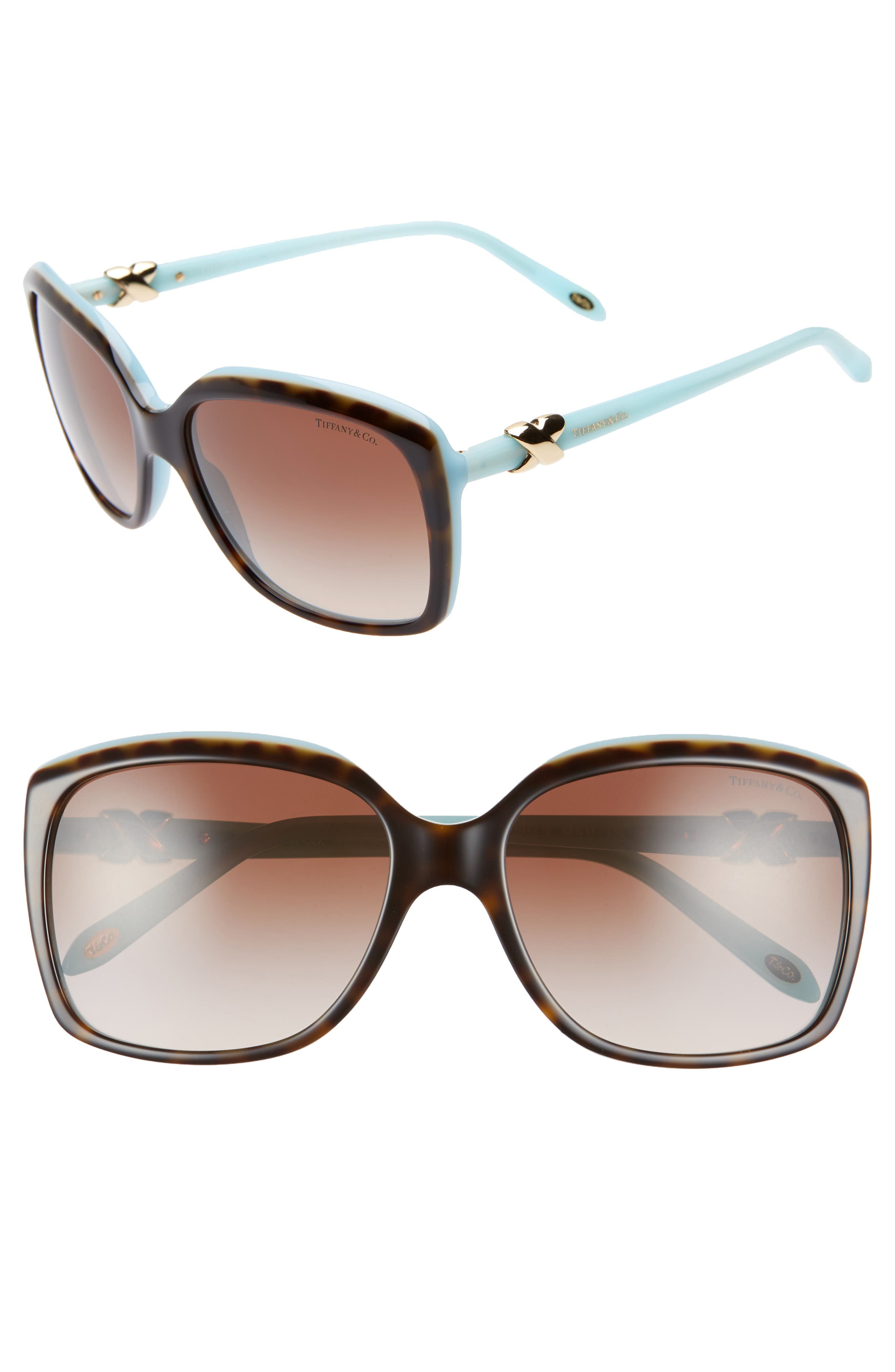 3e762e75abd74 Women s Tiffany   Co. 58Mm Rectangular Sunglasses -