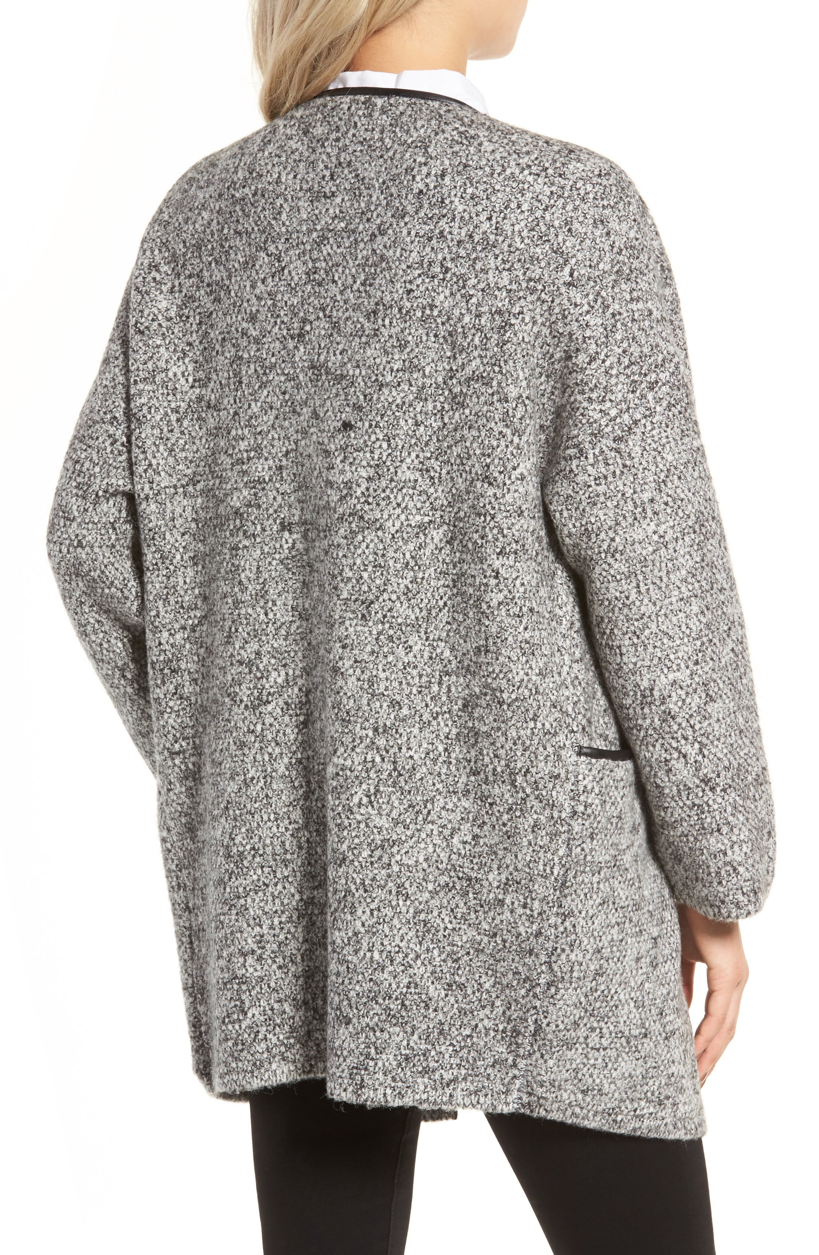 ASTR THE LABEL,                             ASTR Drape Front Sweater Jacket,                             Alternate thumbnail 2, color,                             001