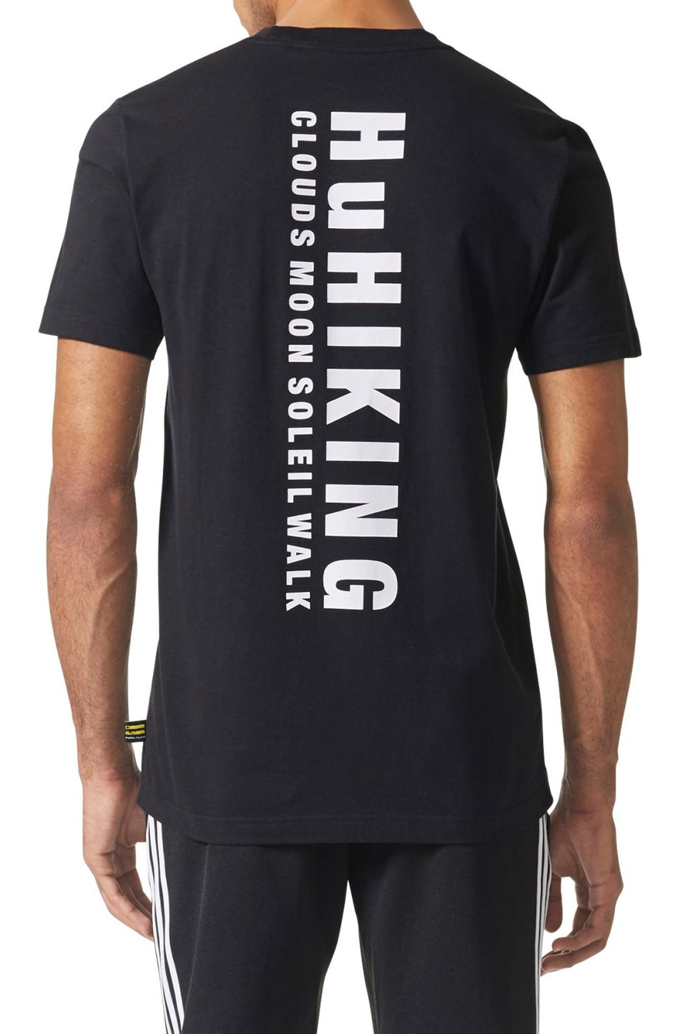 Pharrell Williams Hu Hiking T-Shirt,                             Alternate thumbnail 2, color,                             001
