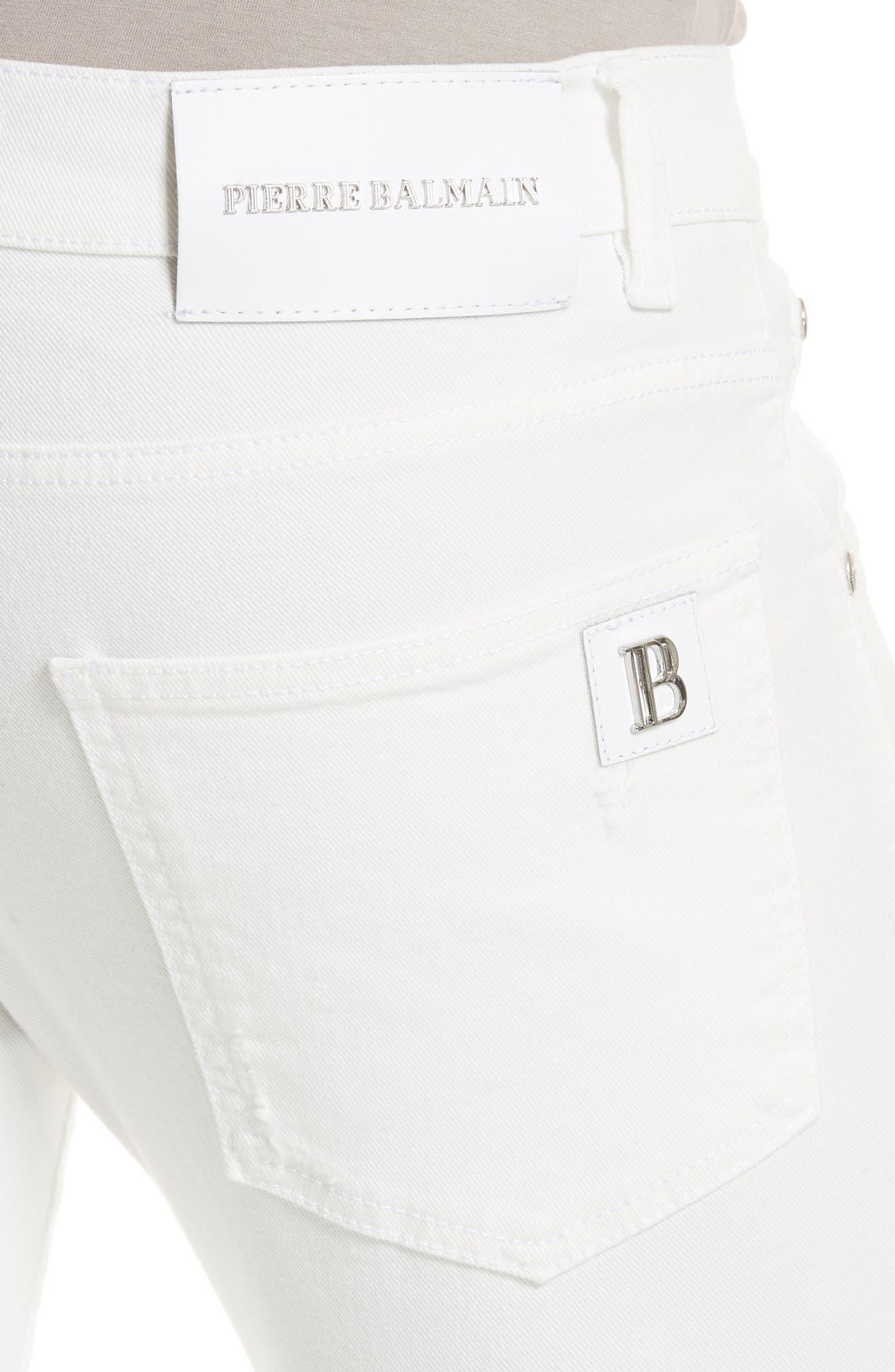 Biker Jeans,                             Alternate thumbnail 4, color,                             100