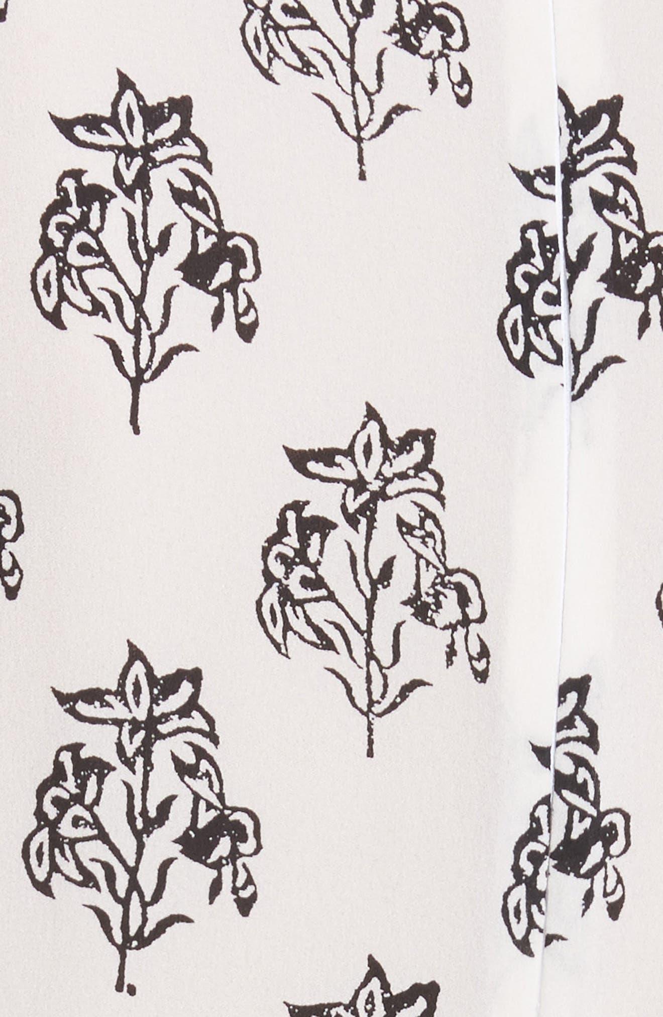 McKenna Print Asymmetrical Silk Dress,                             Alternate thumbnail 5, color,                             110