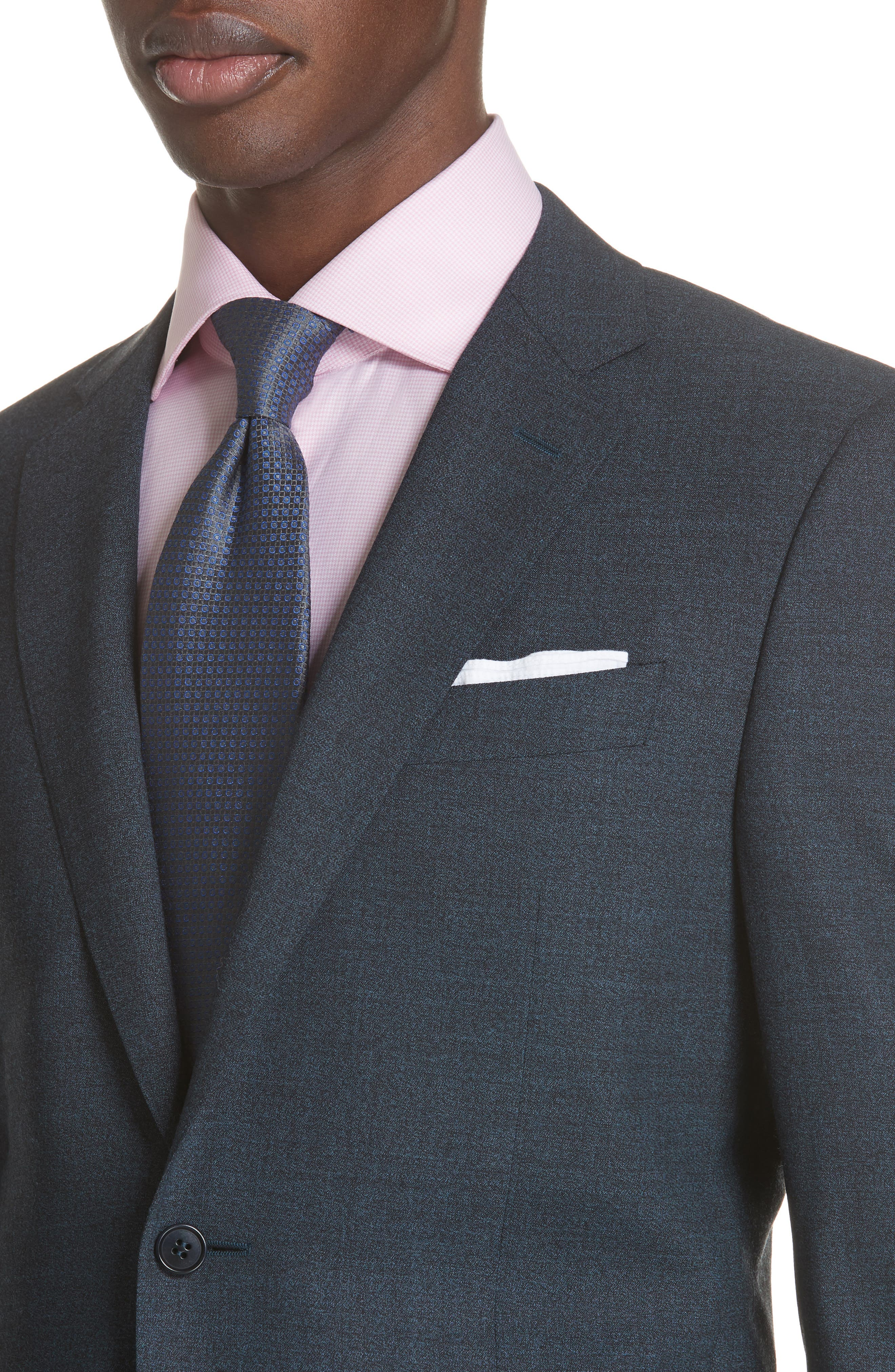 CANALI,                             Classic Fit Stretch Solid Wool Suit,                             Alternate thumbnail 4, color,                             400