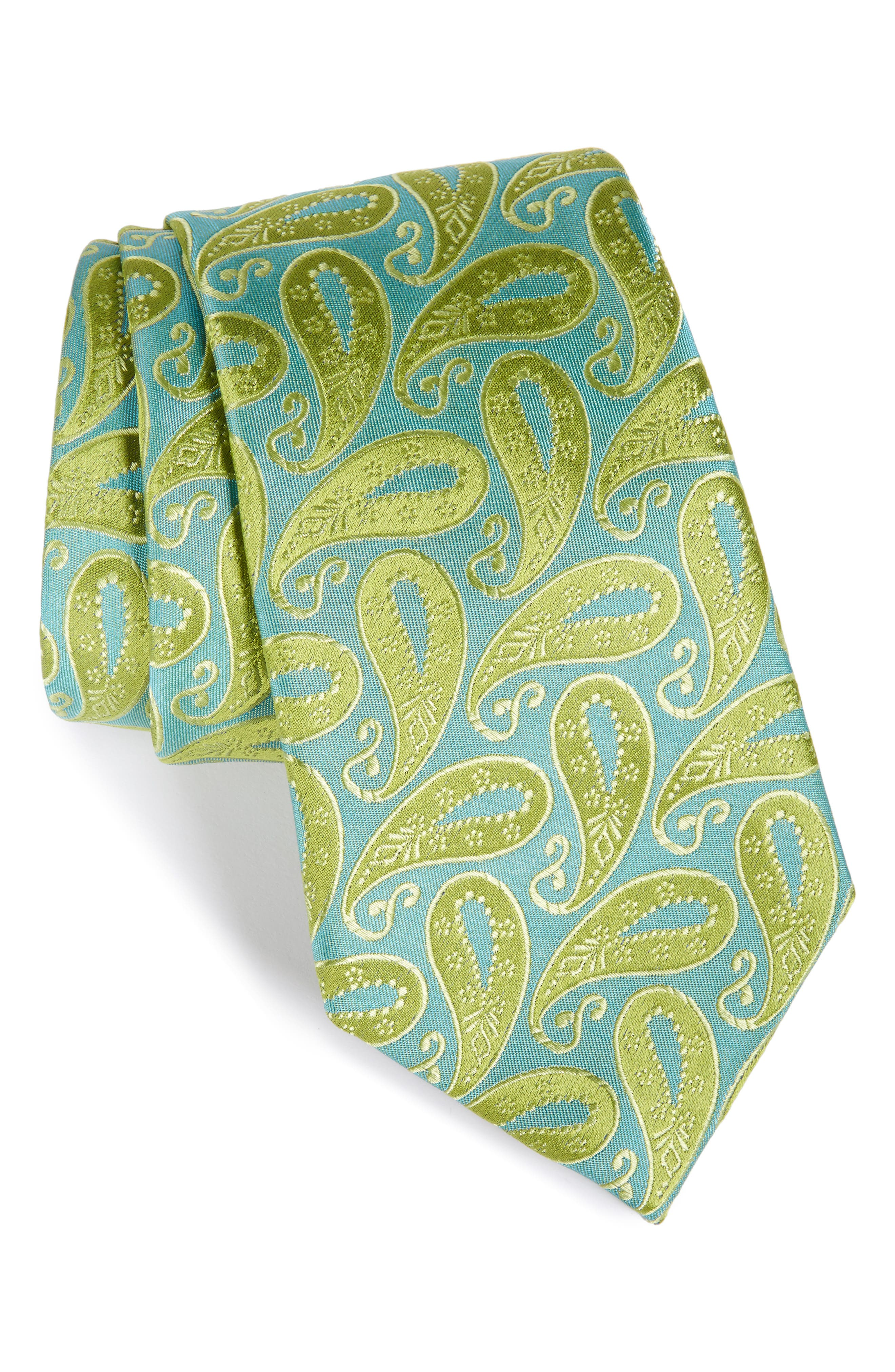 Modern Paisley Silk Tie,                         Main,                         color, 322