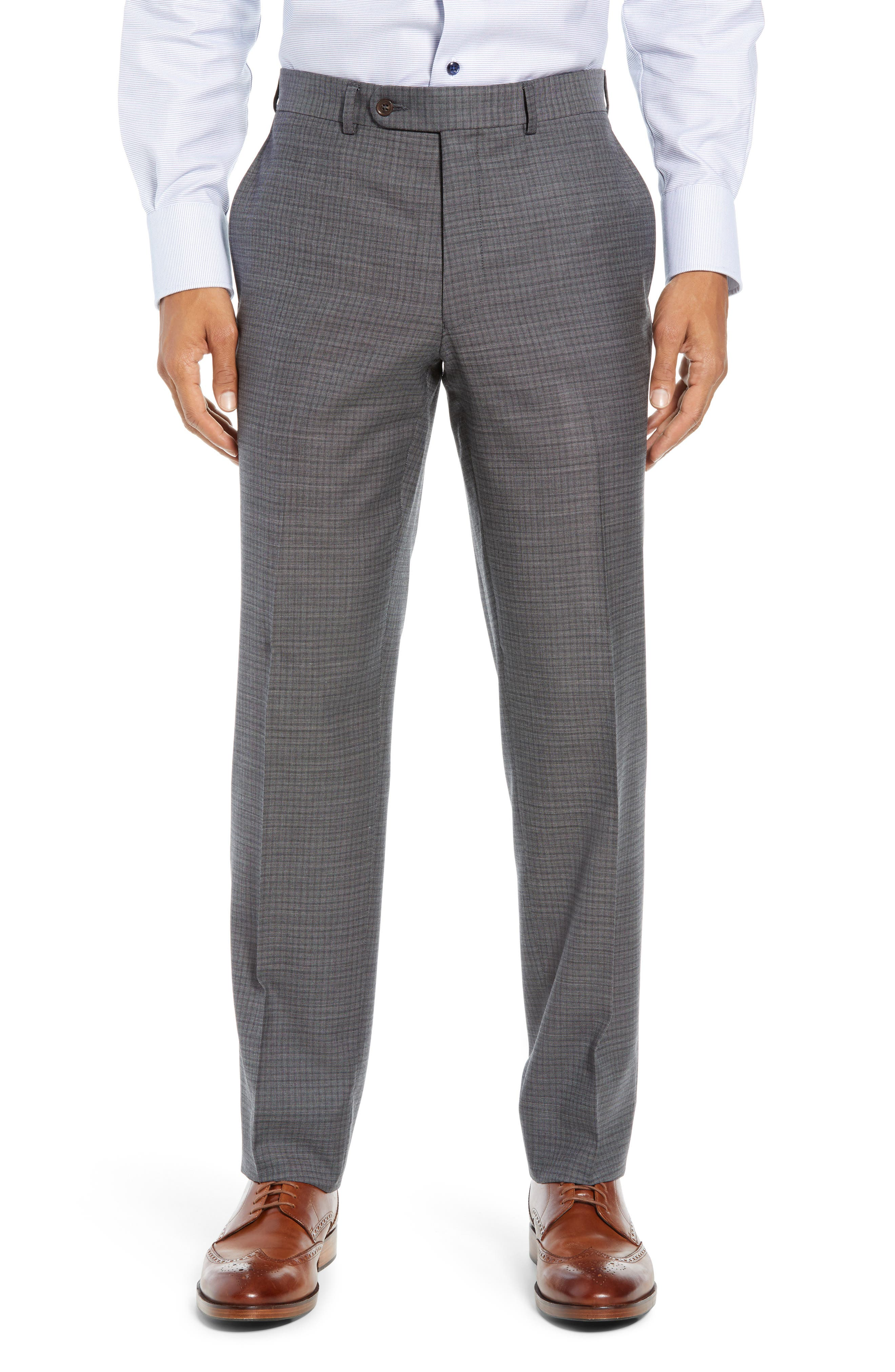 Ryan Classic Fit Stretch Check Wool Suit,                             Alternate thumbnail 6, color,                             CHARCOAL