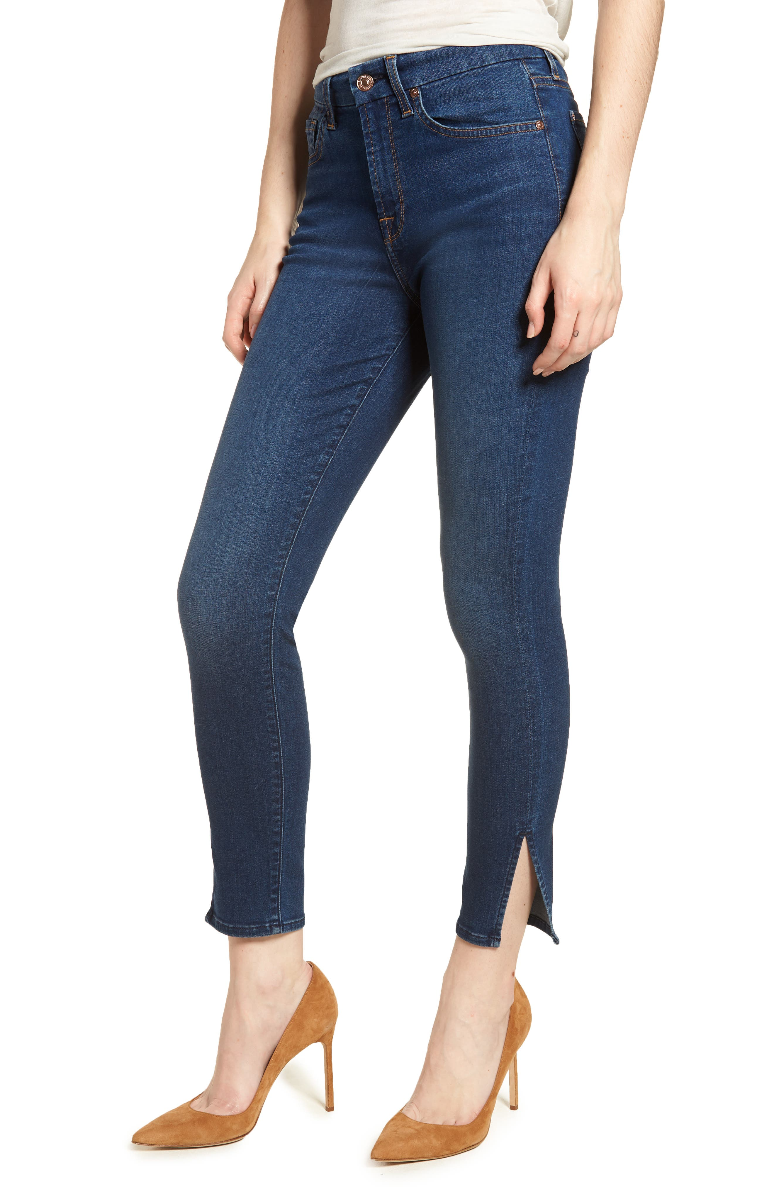 b(air) - Aubrey High Waist Skinny Jeans,                         Main,                         color, 400