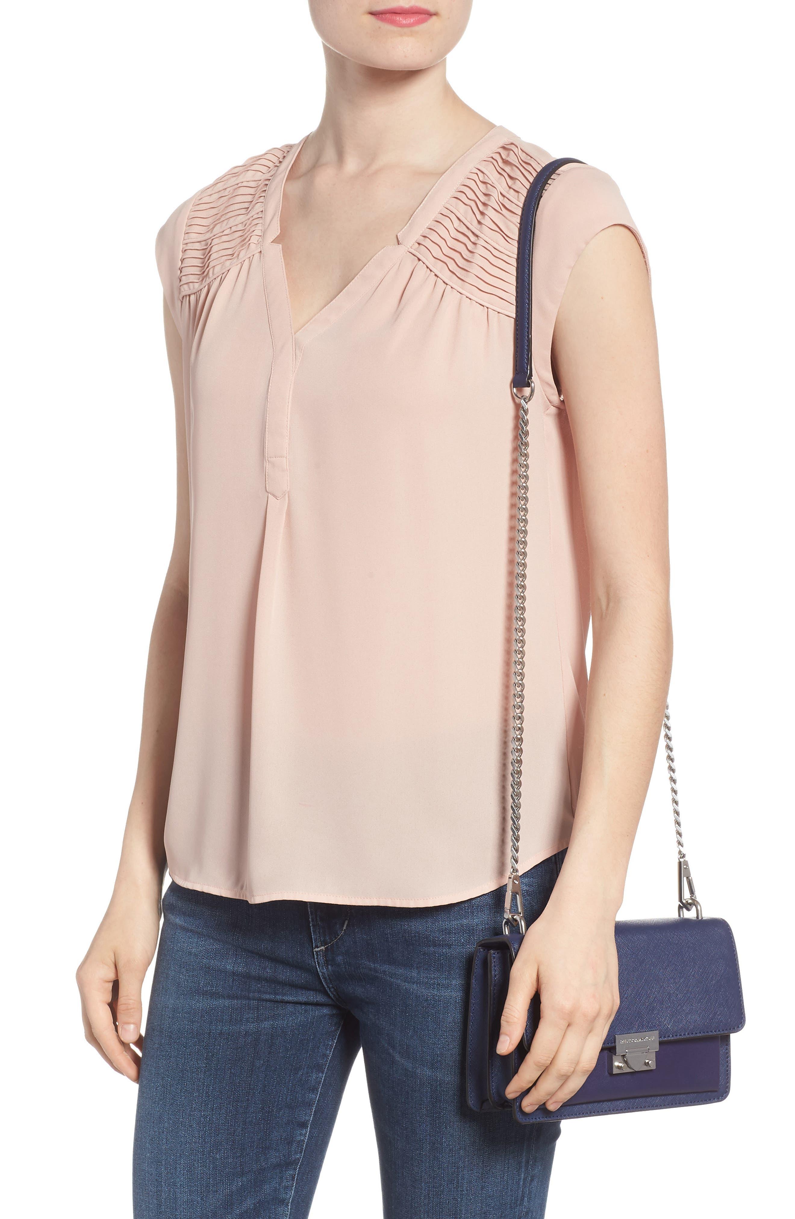 Medium Christy Leather Shoulder Bag,                             Alternate thumbnail 8, color,