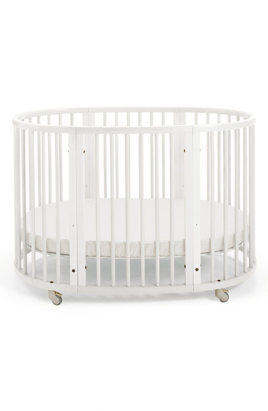 Convertible Sleepi Crib & Toddler Bed,                         Main,                         color, WHITE
