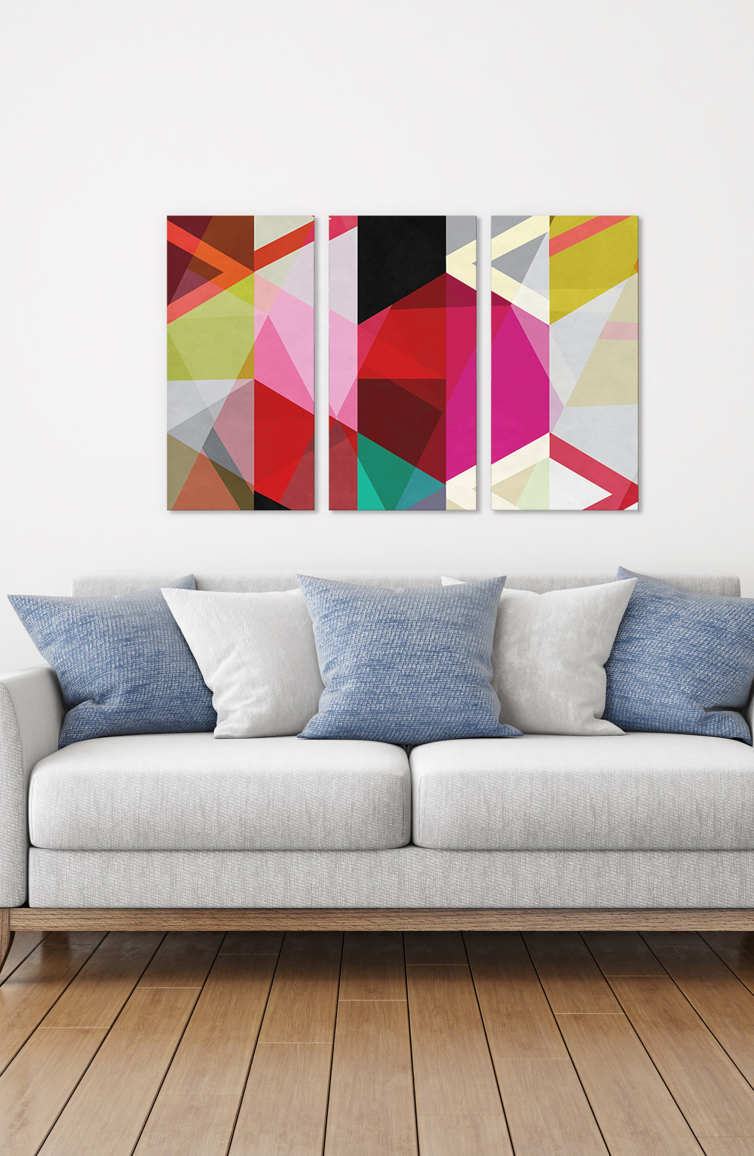 ICANVAS,                             Modern Art Giclée Print Canvas Triptych,                             Alternate thumbnail 2, color,                             WHITE