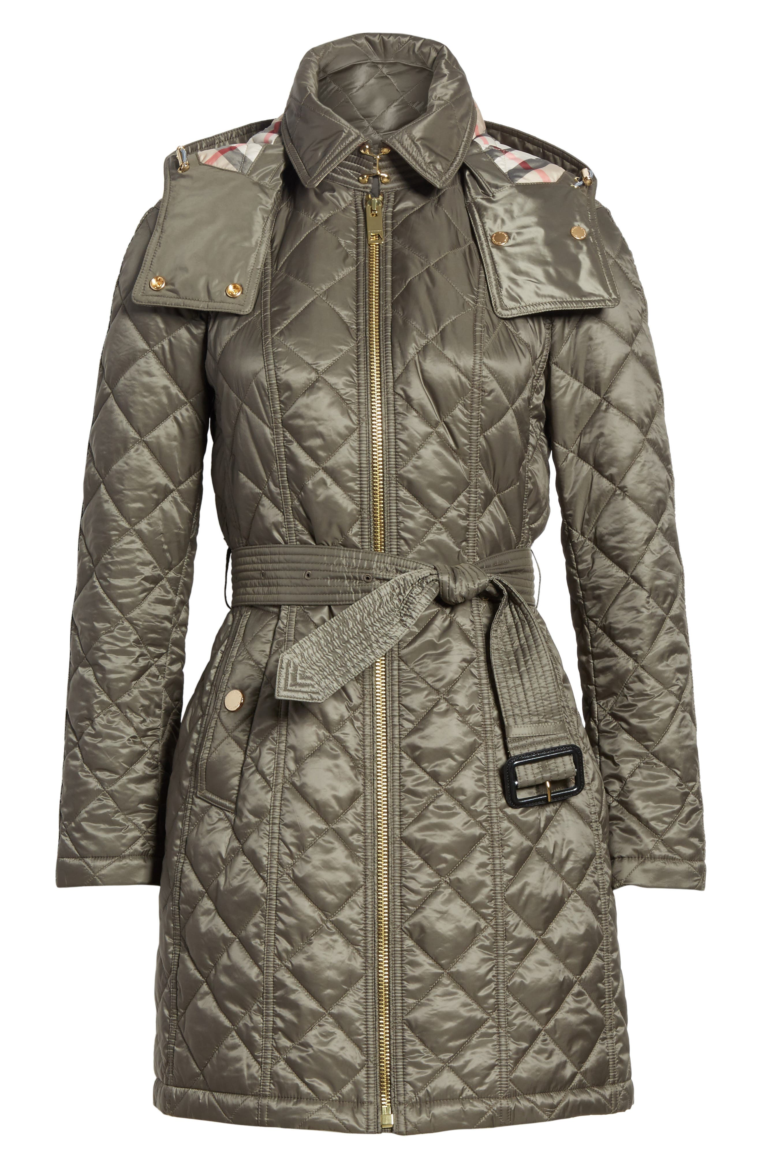 Baughton Quilted Coat,                             Alternate thumbnail 6, color,                             MINK GREY