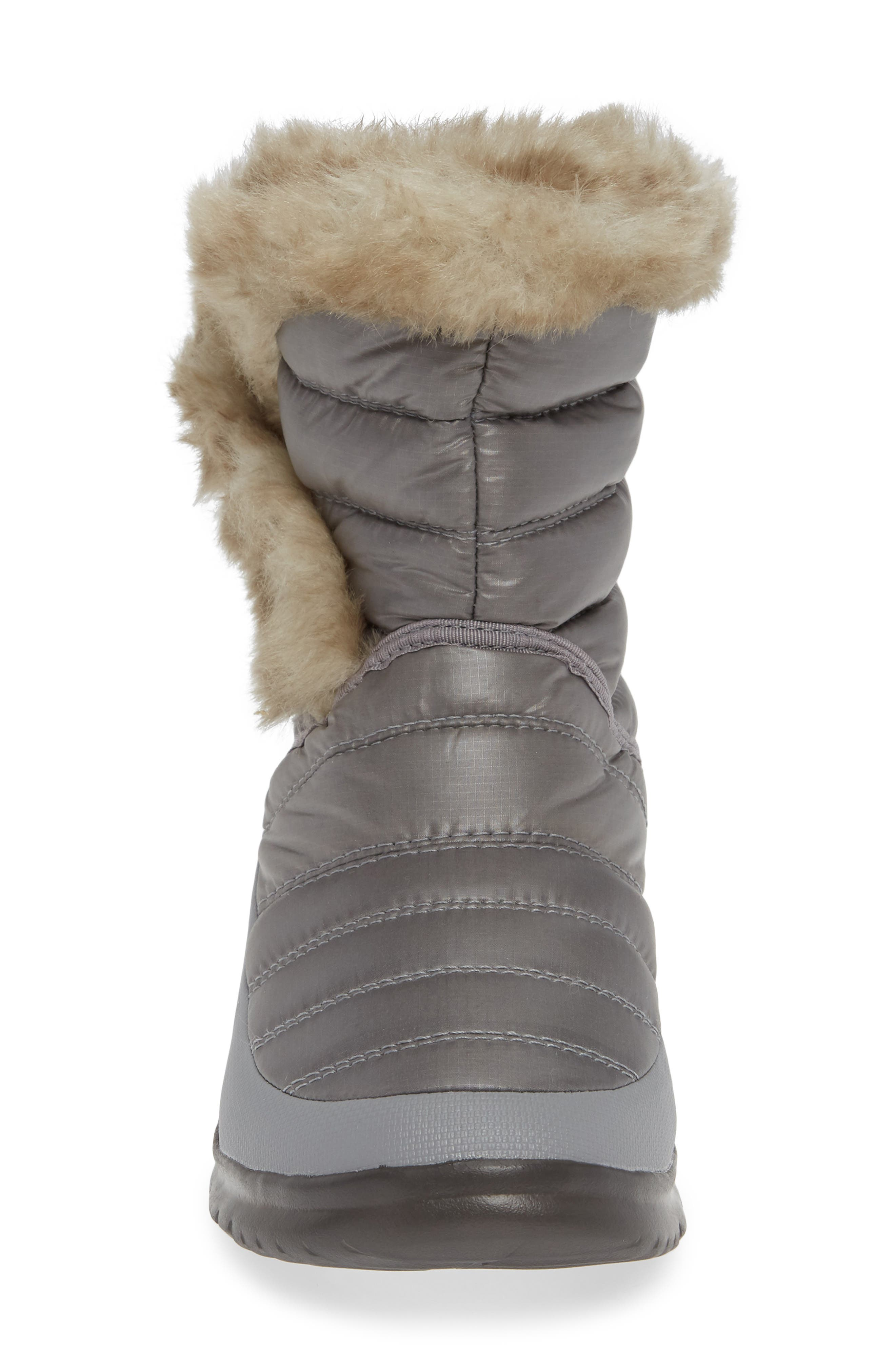Microbaffle Waterproof ThermoBall<sup>®</sup> Insulated Winter Boot,                             Alternate thumbnail 4, color,                             SHINY FROST GREY/ BLUE HAZE