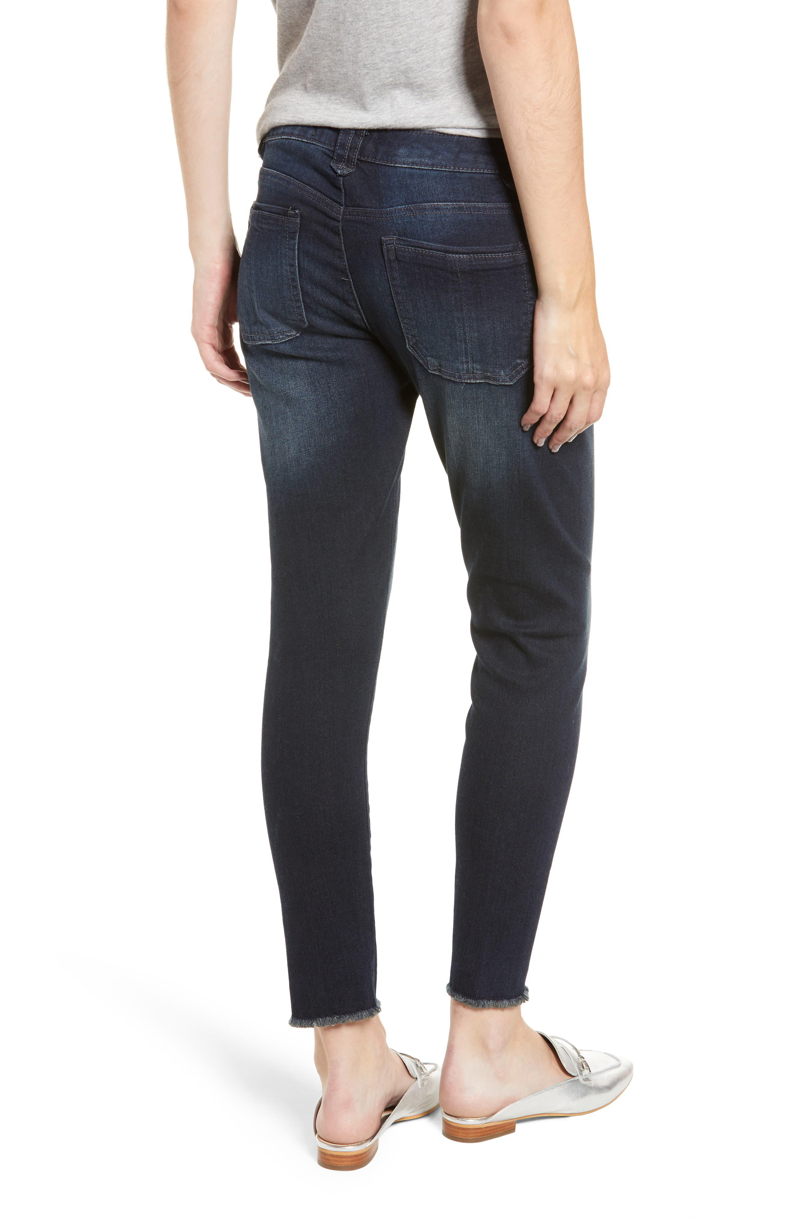 Seamless Ankle Skimmer Jeans,                             Alternate thumbnail 2, color,                             INDIGO