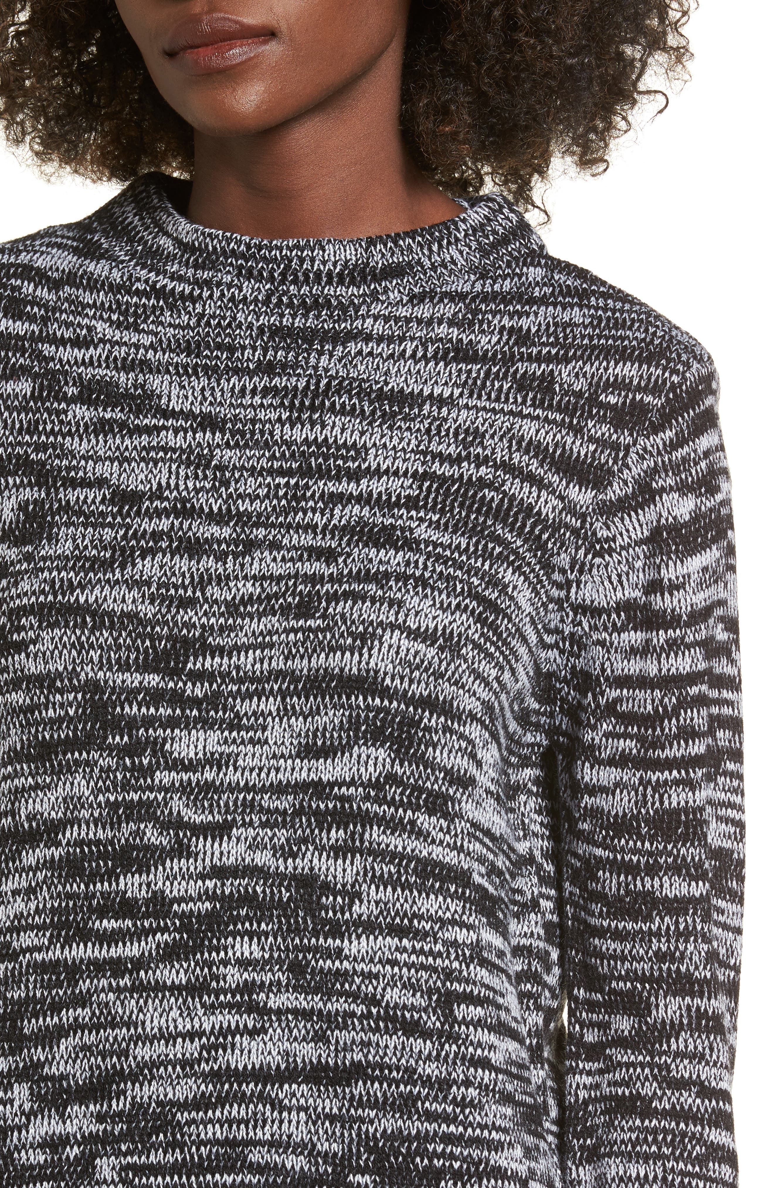 Mock Neck Sweater,                             Alternate thumbnail 4, color,                             001