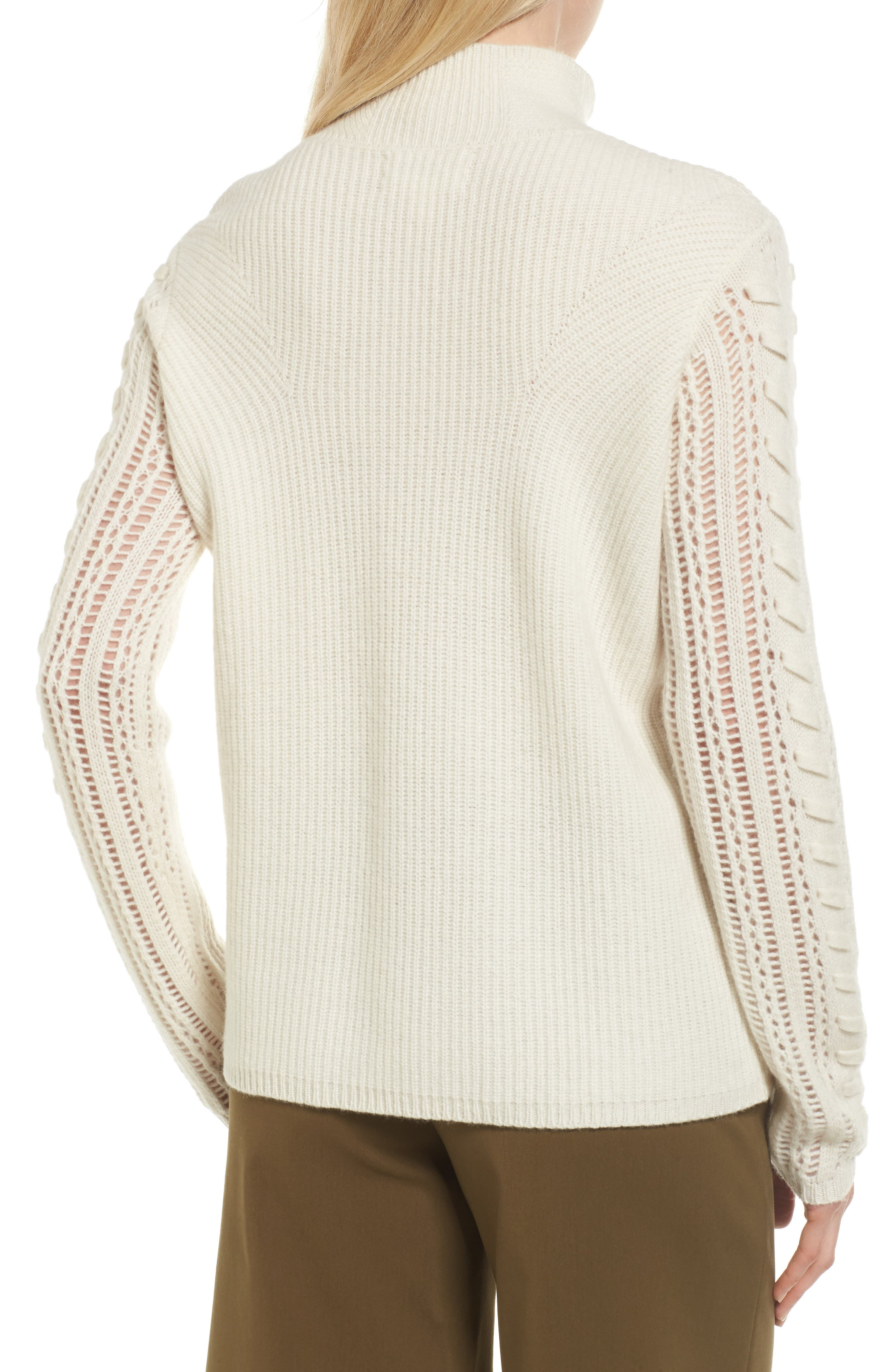 Mixed Stitch Cashmere Sweater,                             Alternate thumbnail 2, color,                             900