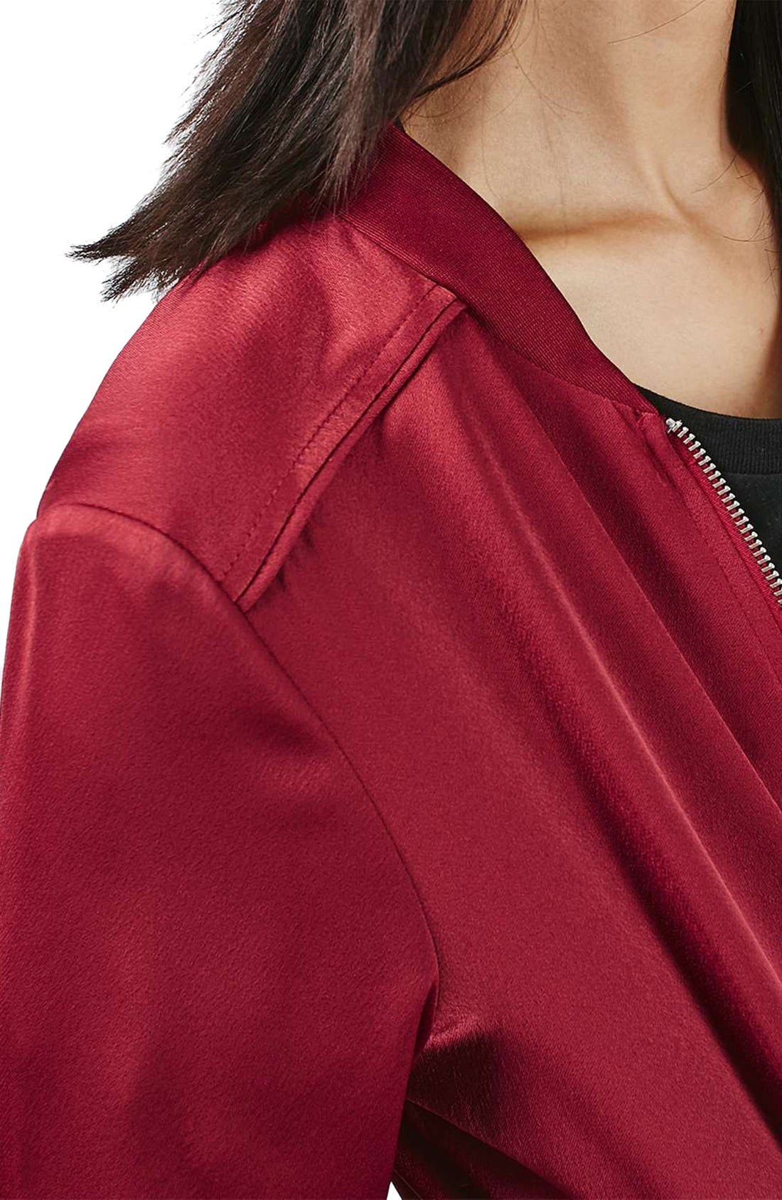 Satin Bomber Jacket,                             Alternate thumbnail 20, color,
