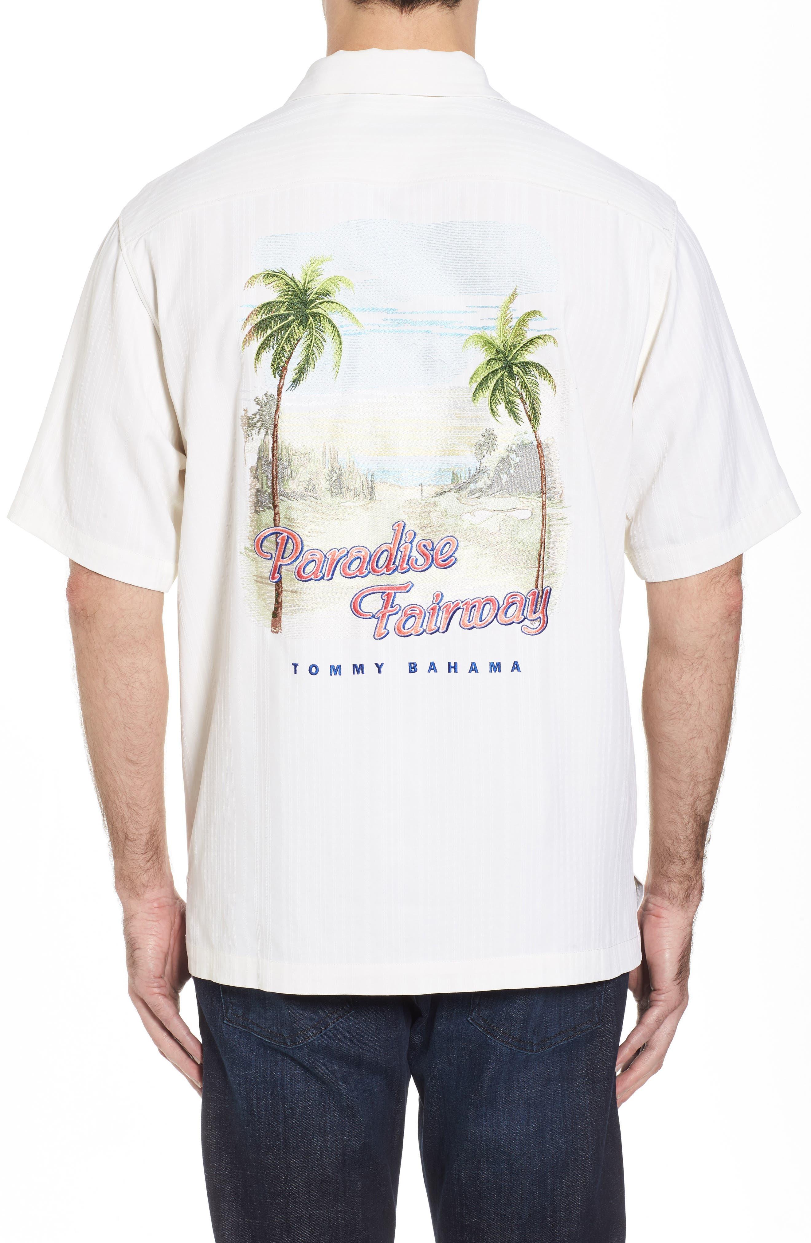 Paradise Fairway Silk Camp Shirt,                             Alternate thumbnail 2, color,