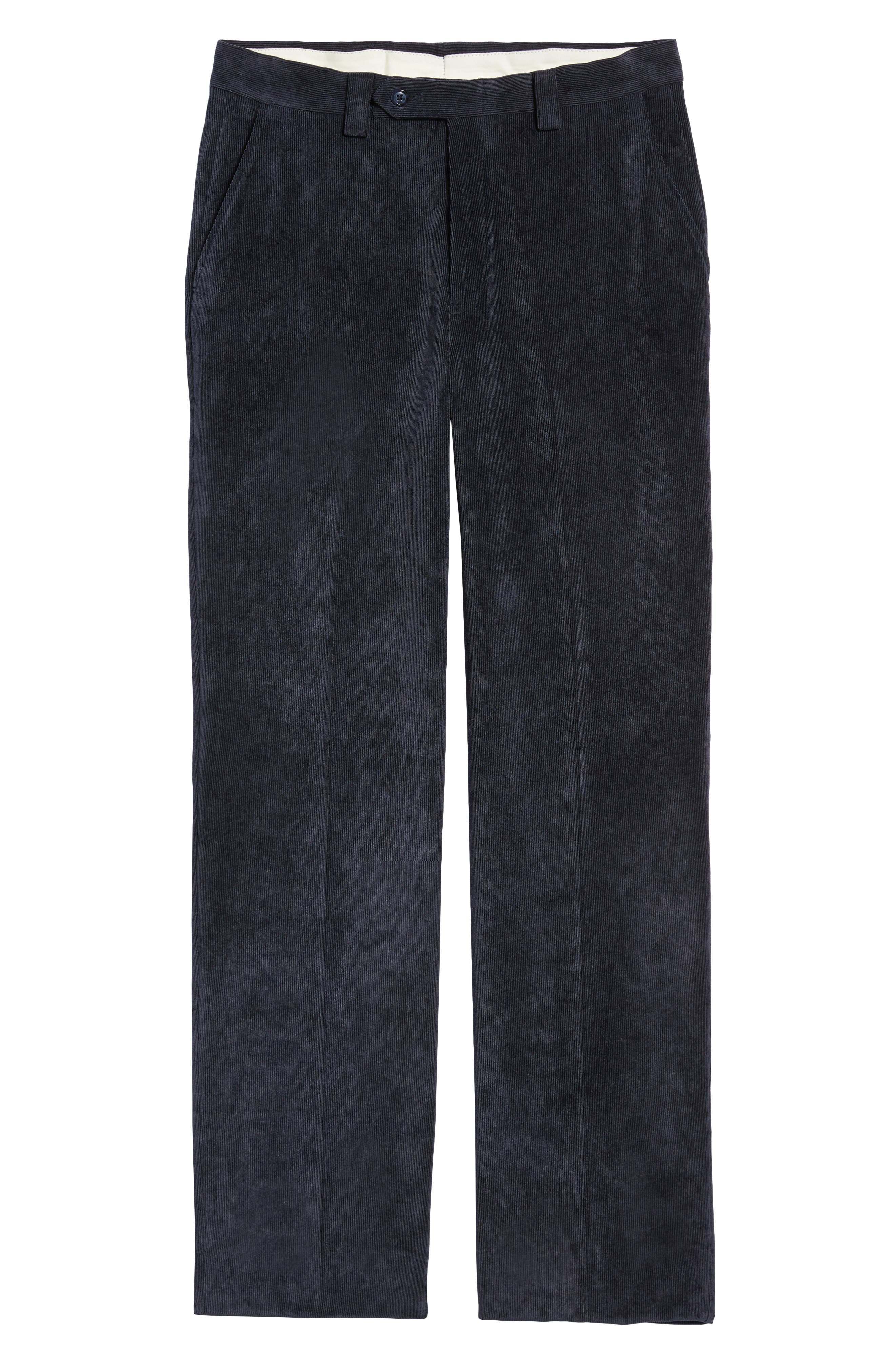 BERLE,                             Classic Fit Flat Front Corduroy Trousers,                             Alternate thumbnail 6, color,                             410