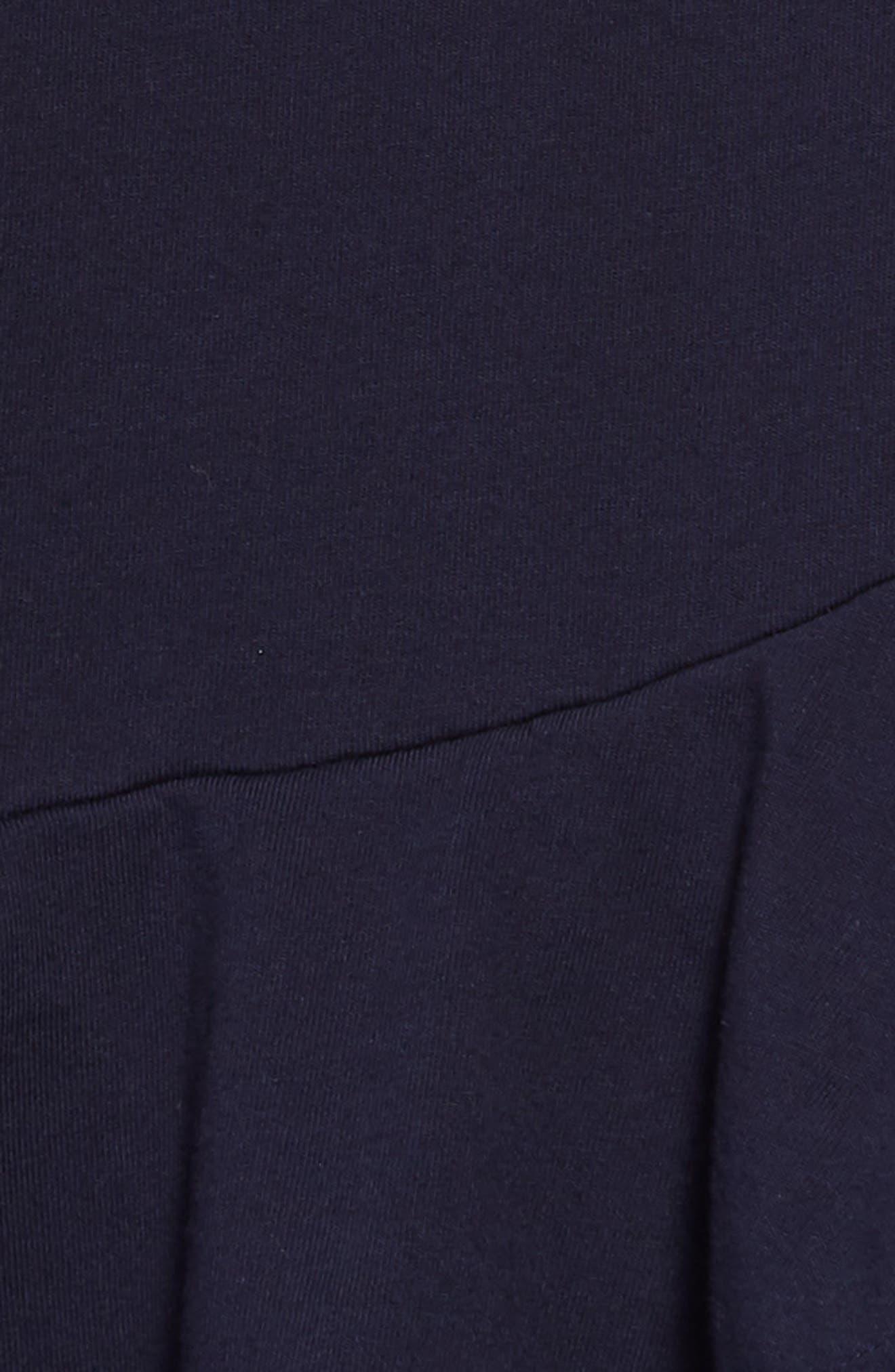 Ruffle Hem Dress,                             Alternate thumbnail 3, color,                             410