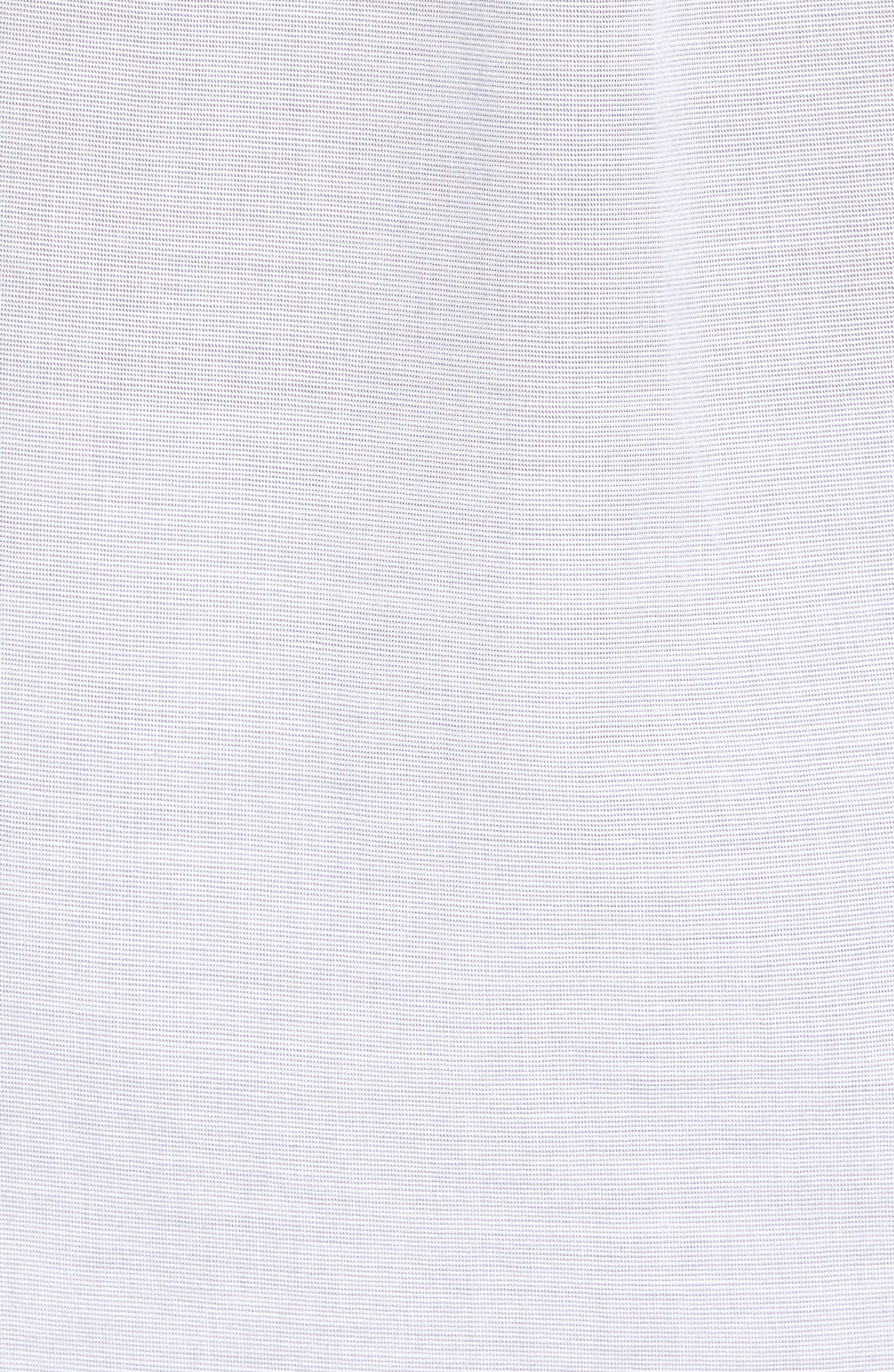 Oscar Regular Fit Sport Shirt,                             Alternate thumbnail 5, color,                             HEATHER GRASILLE