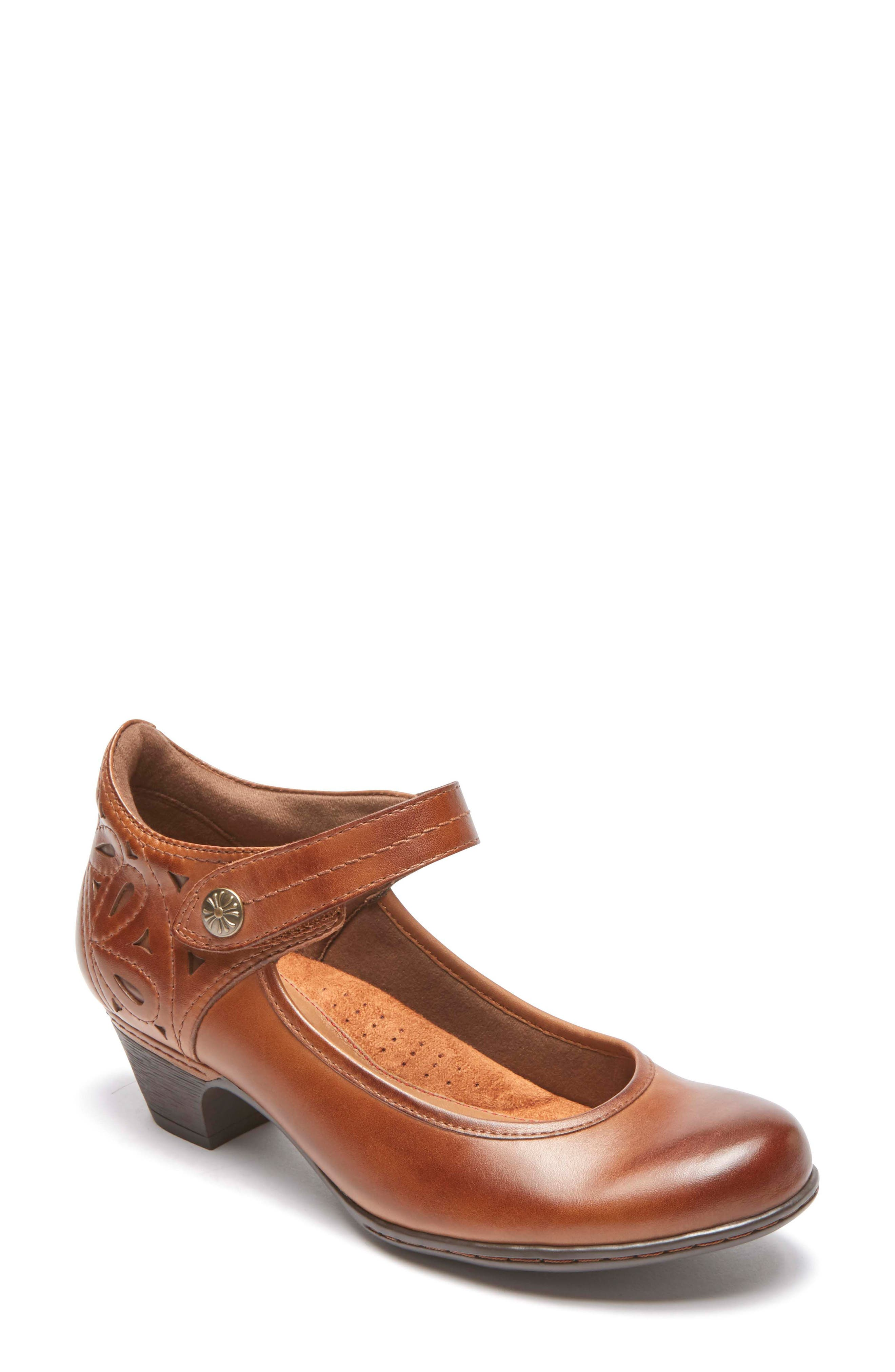 Abbott Mary Jane Pump,                             Main thumbnail 1, color,                             ALMOND LEATHER