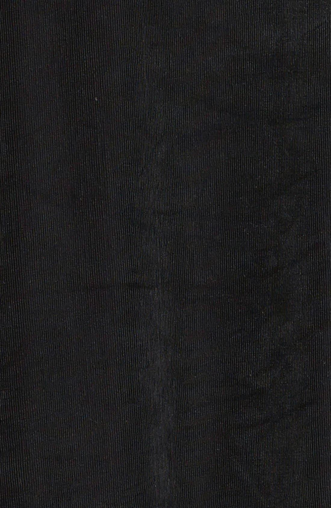 Long A-Line Skirt,                             Alternate thumbnail 3, color,                             BLACK