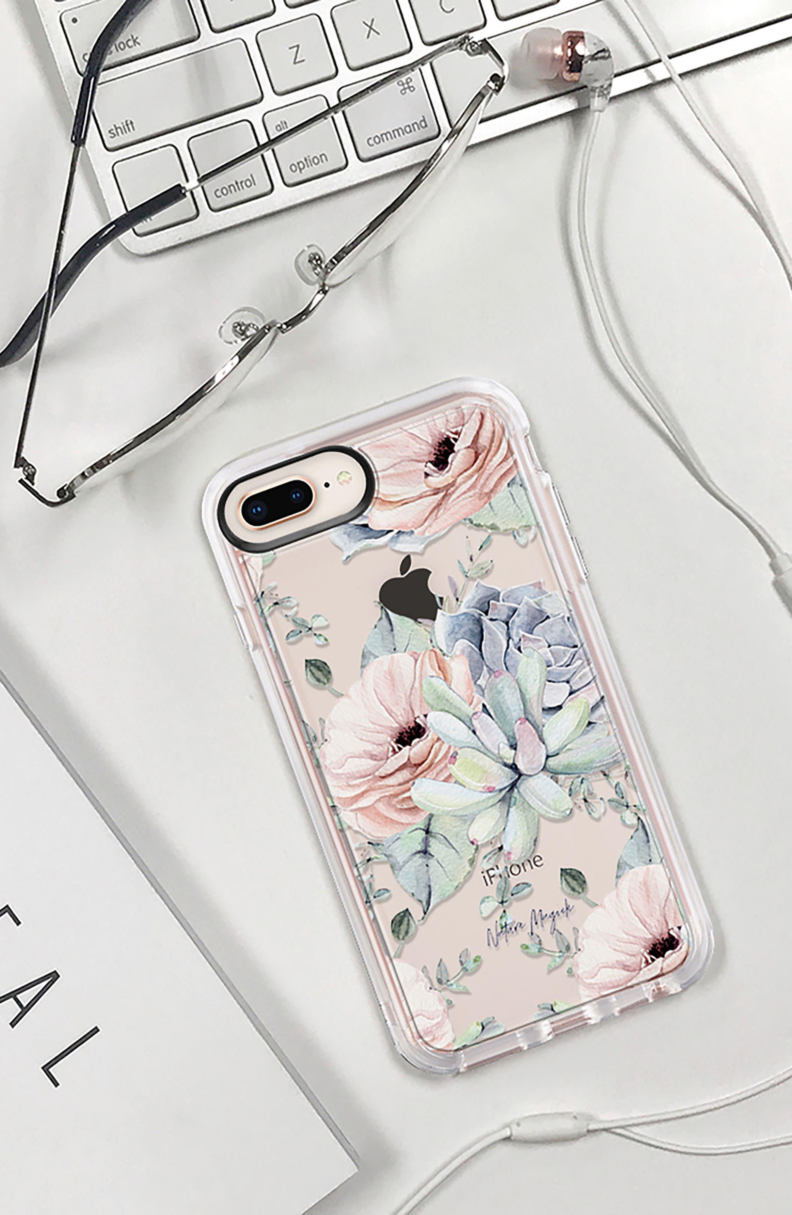 Pretty Succulents iPhone 7/8 & 7/8 Plus Case,                             Alternate thumbnail 9, color,                             CLEAR MULTI