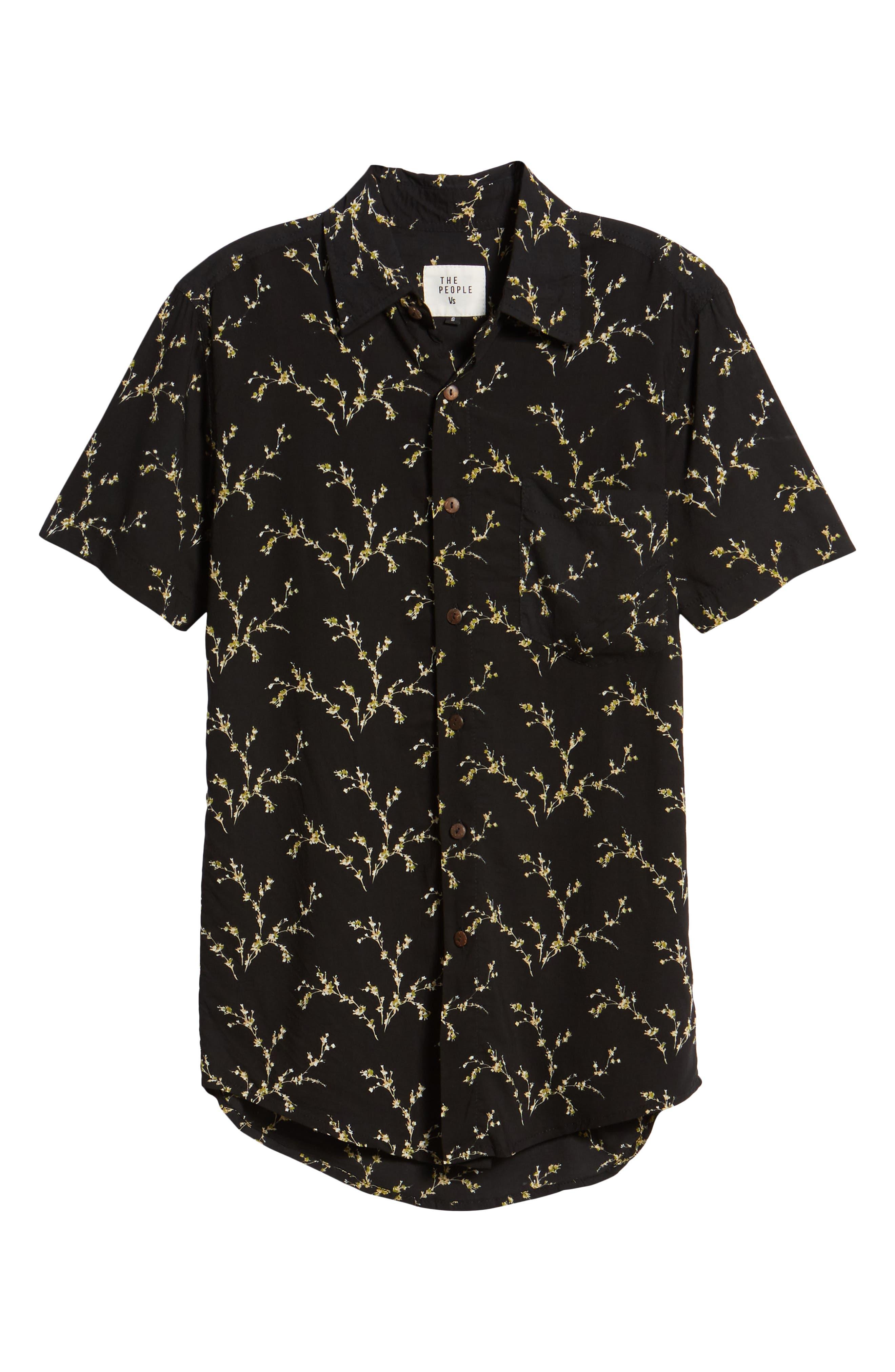 Stevie Woven Shirt,                             Alternate thumbnail 6, color,                             001