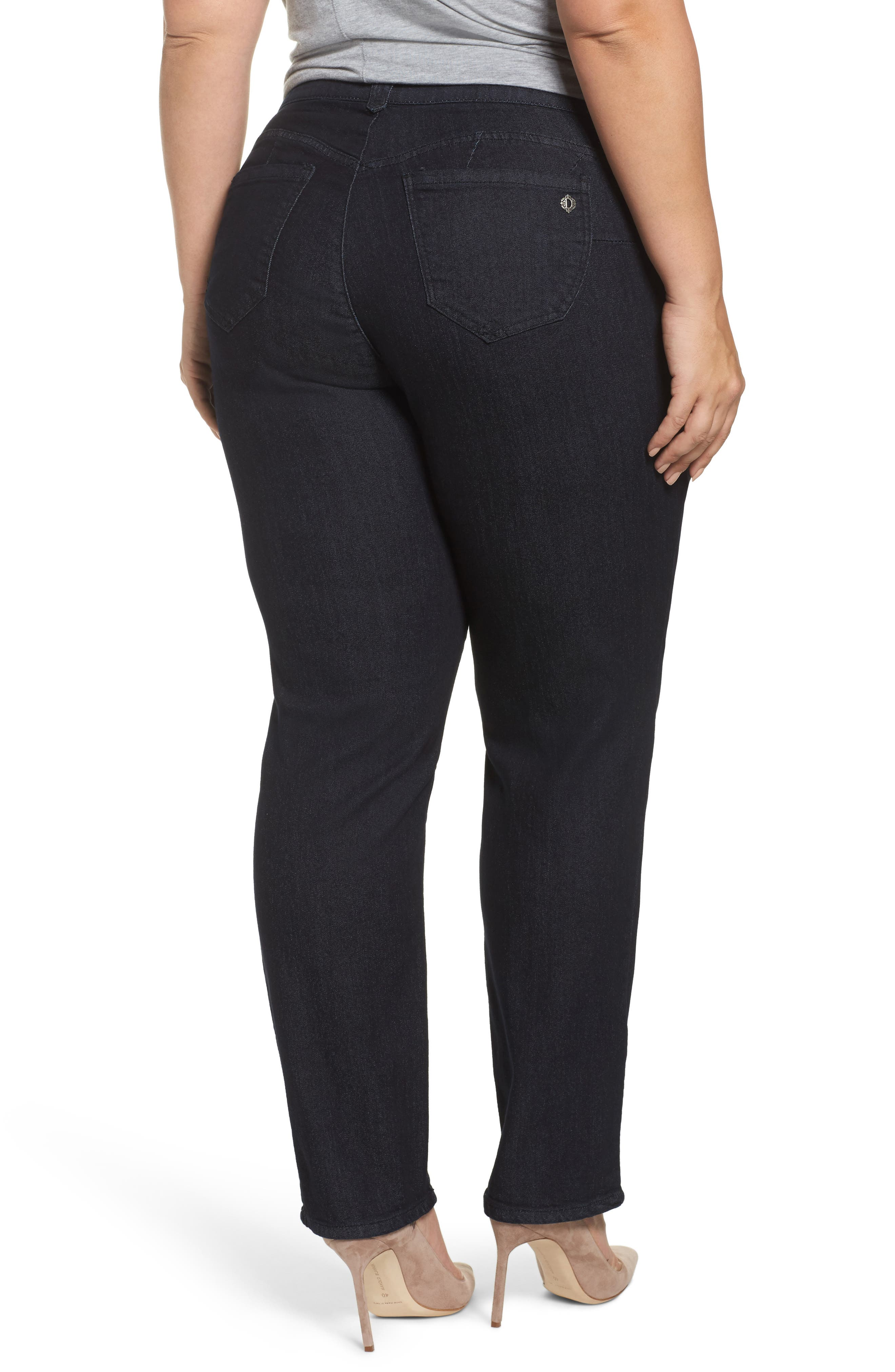 Ab-Solution Stretch Straight Leg Jeans,                             Alternate thumbnail 2, color,                             402