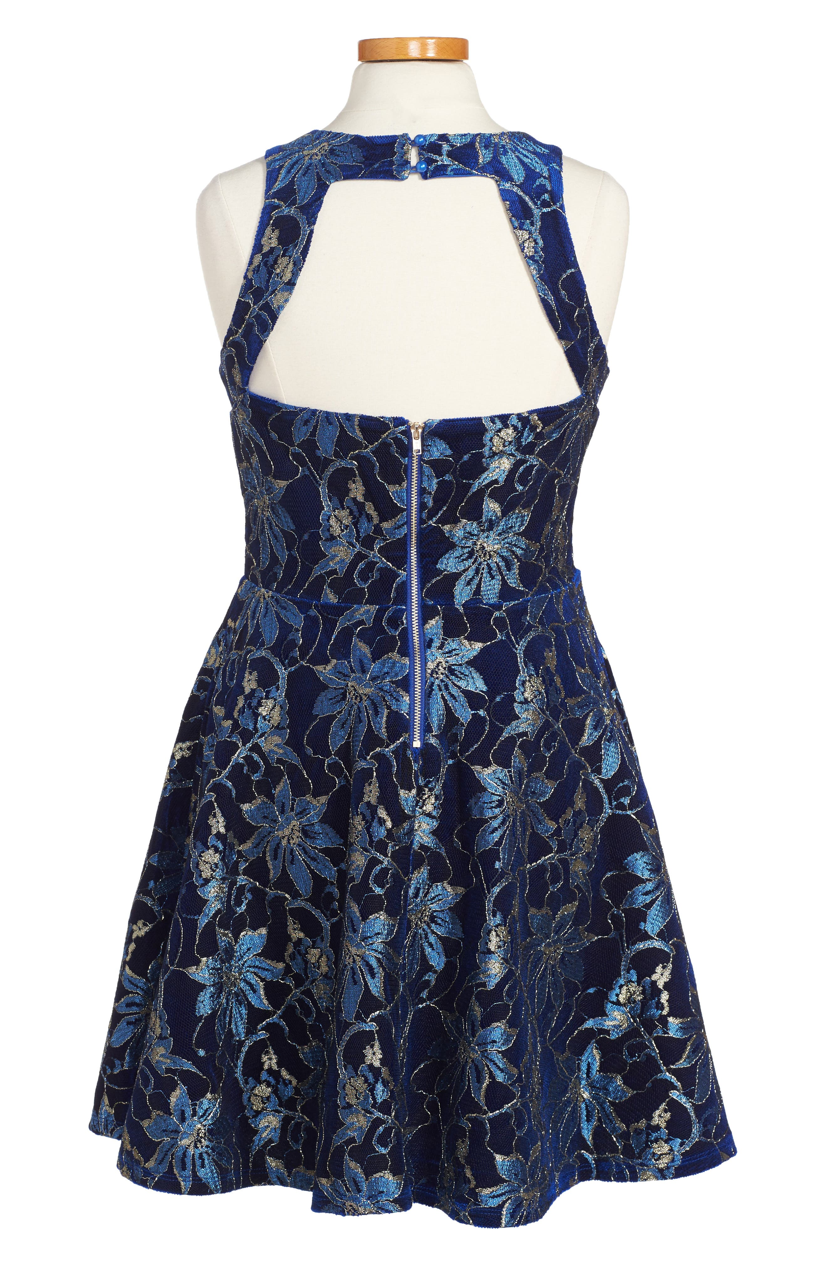 Heather Floral Mesh Dress,                             Alternate thumbnail 2, color,                             420