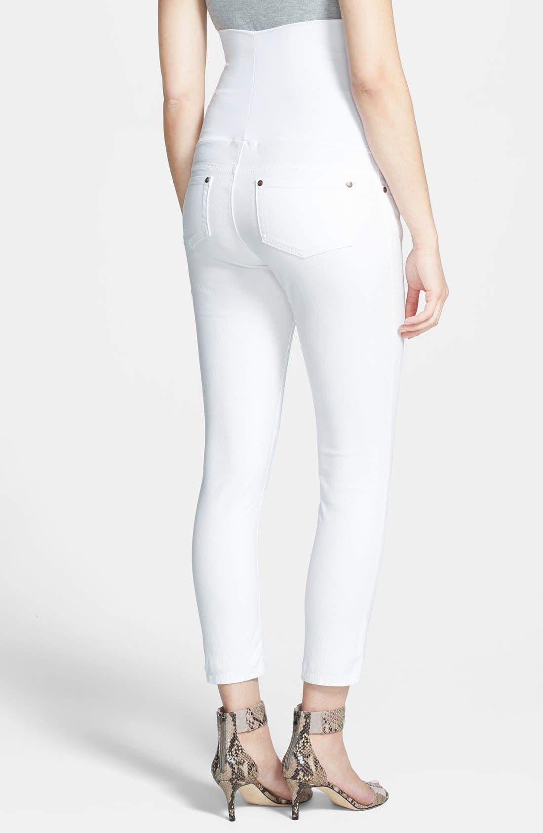 Maternity Skinny Ankle Jeans,                             Alternate thumbnail 2, color,                             100