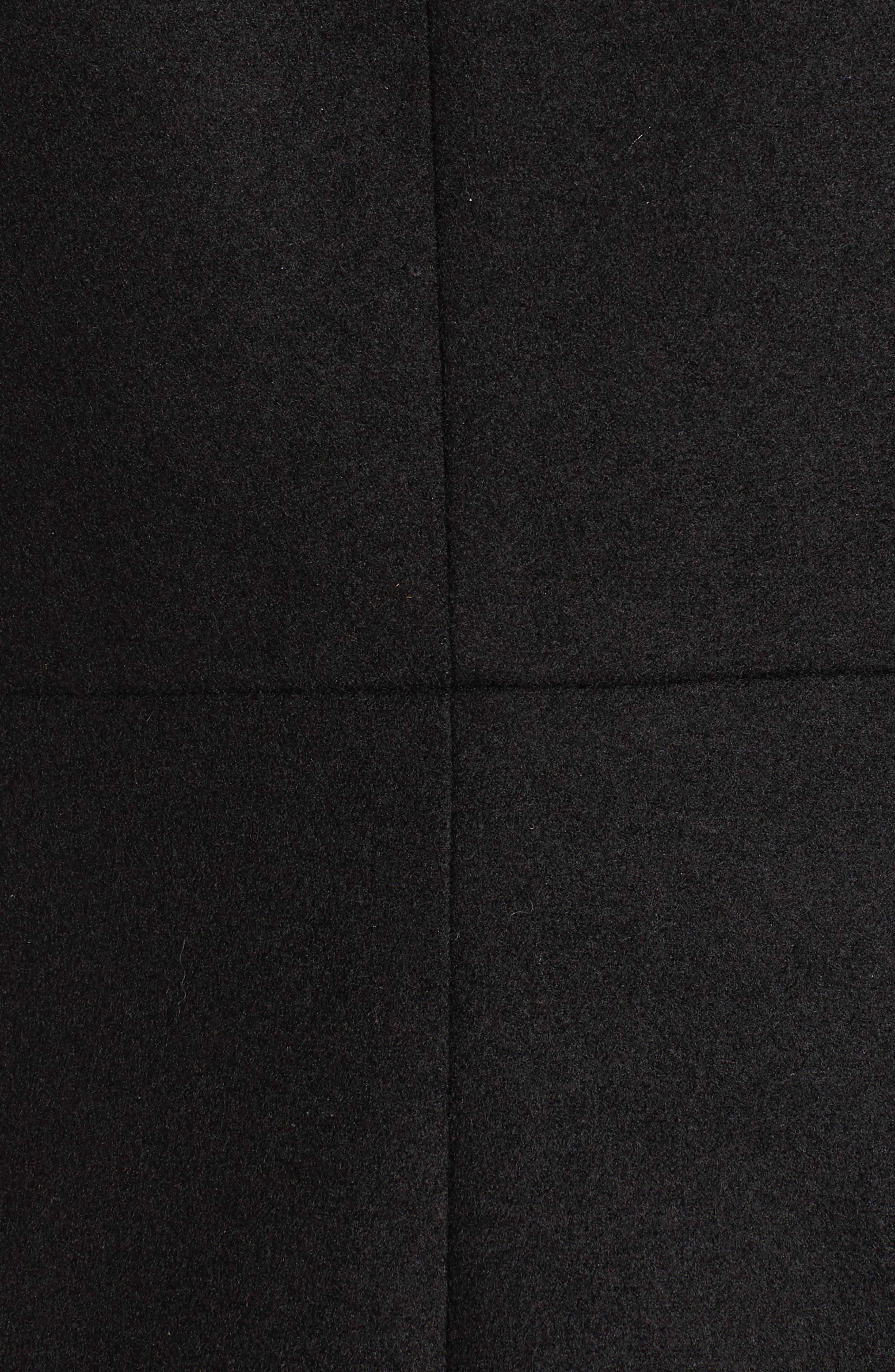 Naomi Faux Fur Collar Coat,                             Alternate thumbnail 4, color,                             BLACK