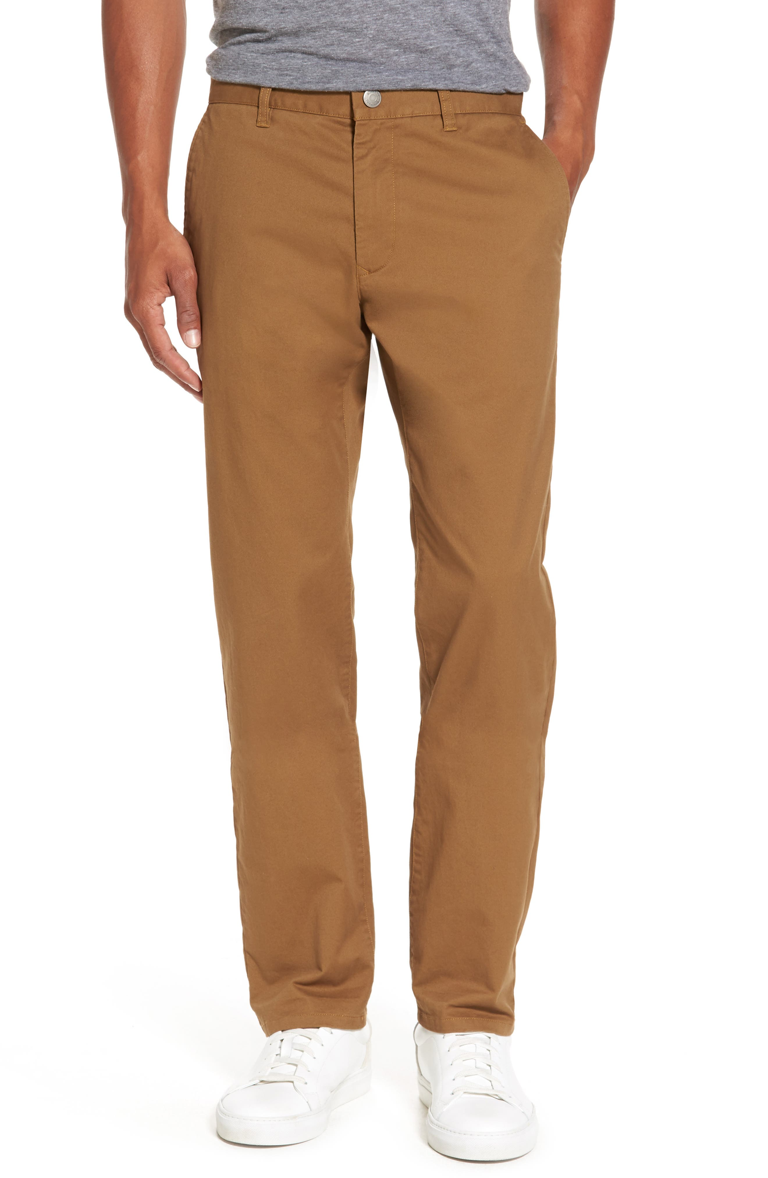 Slim Fit Stretch Washed Chinos,                         Main,                         color, CHESTNUTS