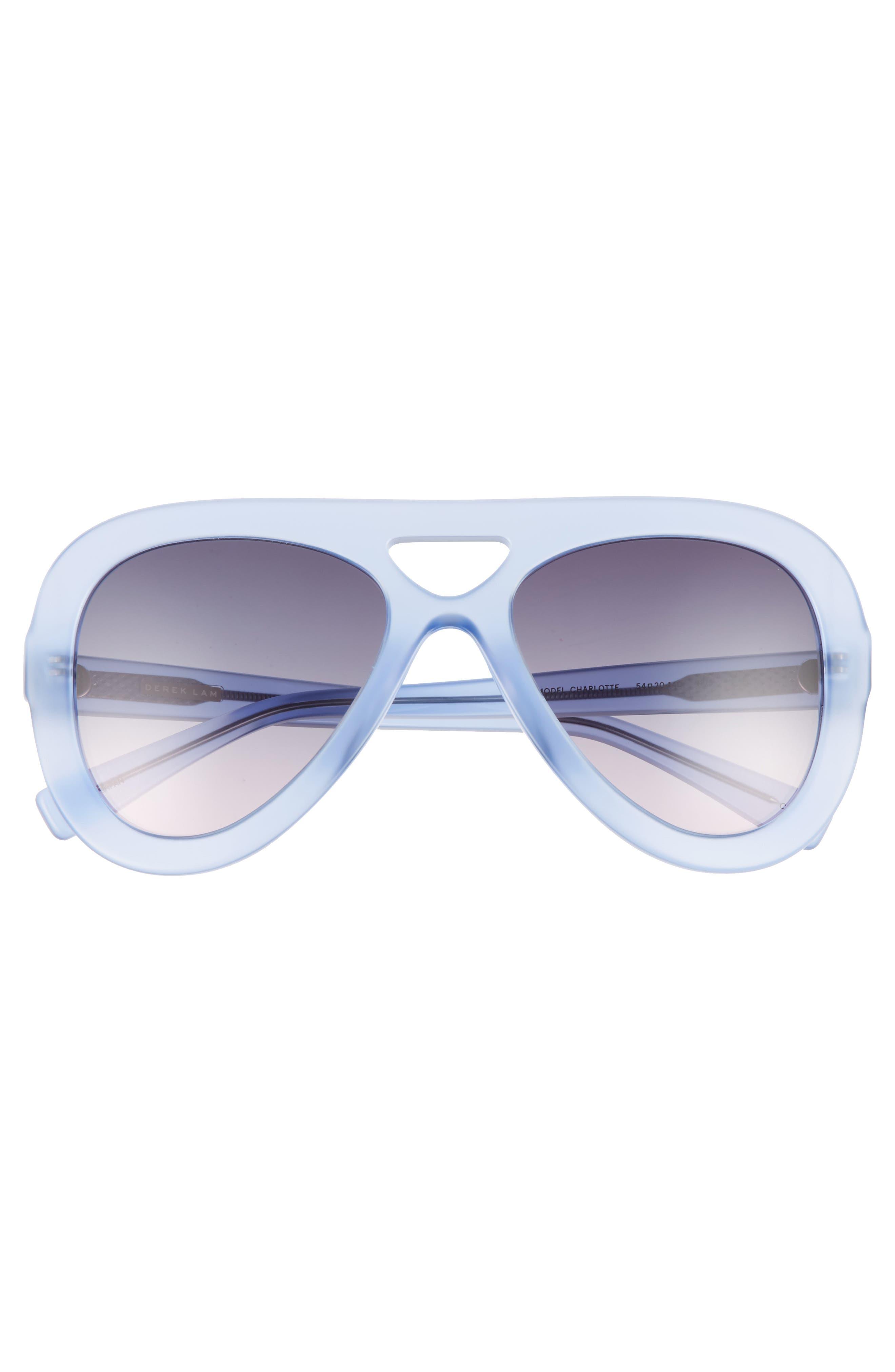 54mm Aviator Sunglasses,                             Alternate thumbnail 3, color,                             IRIS