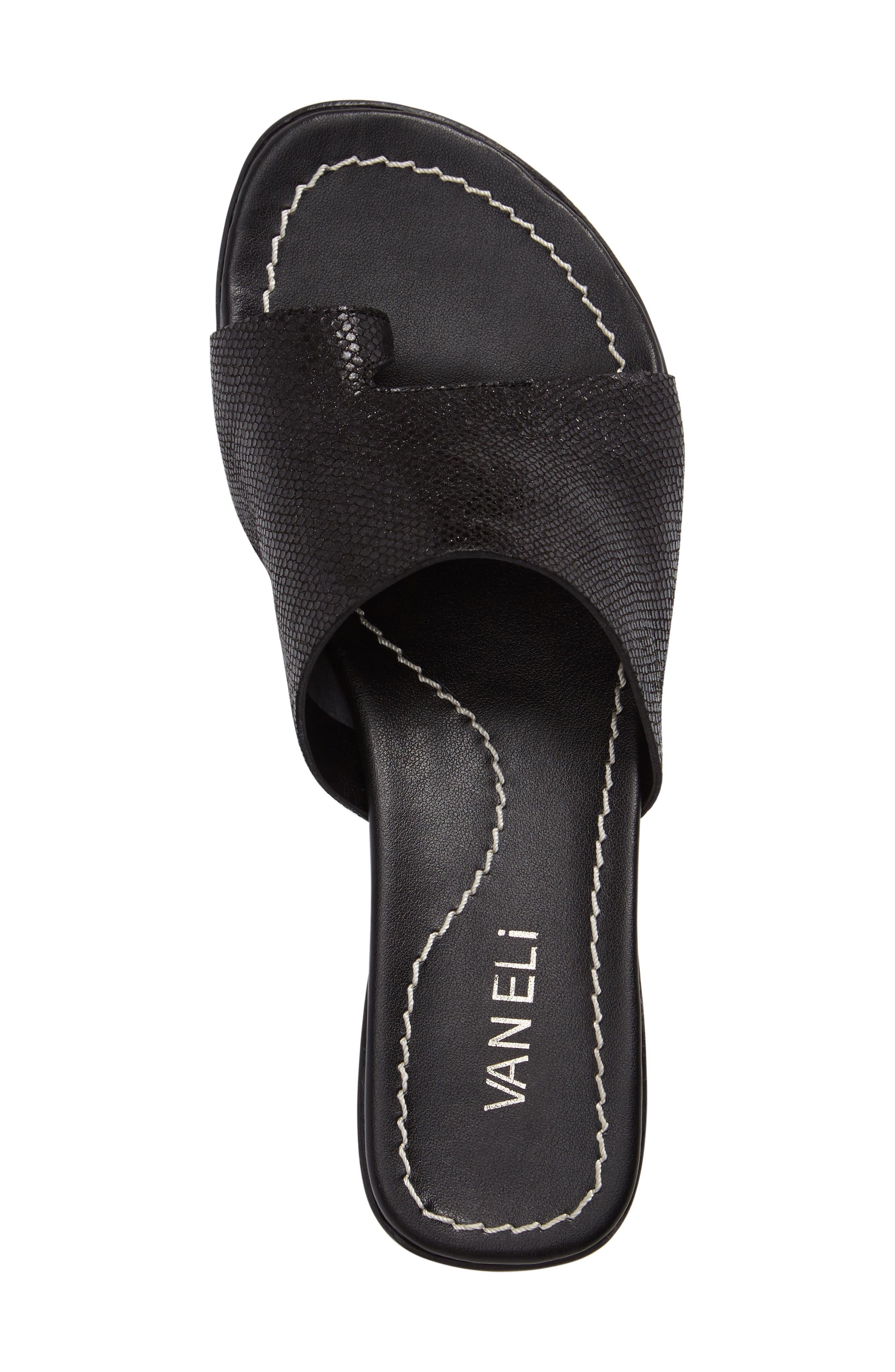 'Tallis' Snake Embossed Leather Slide Sandal,                             Alternate thumbnail 27, color,