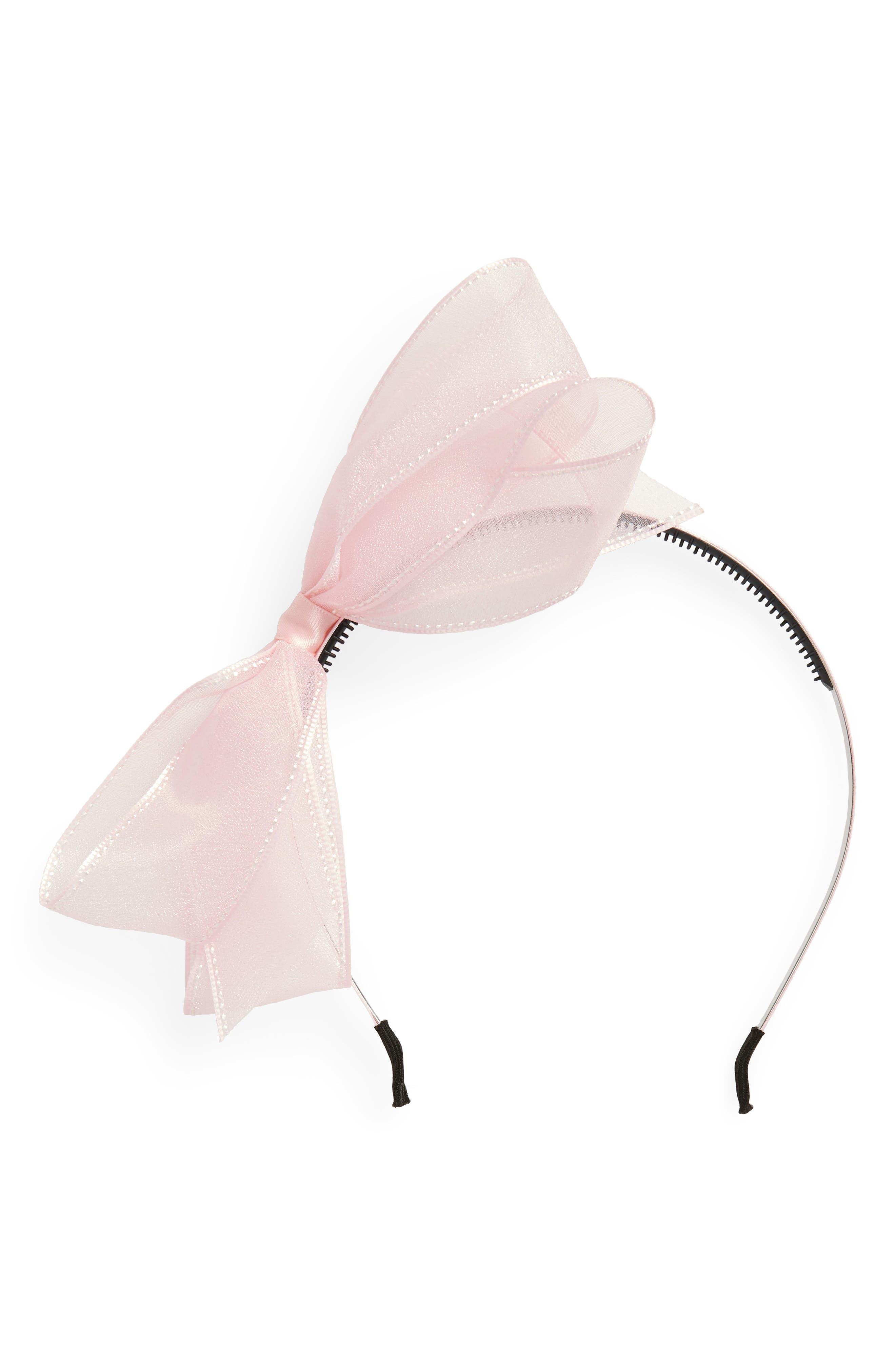 Elegant Ribbon Bow Headband,                             Main thumbnail 1, color,                             651