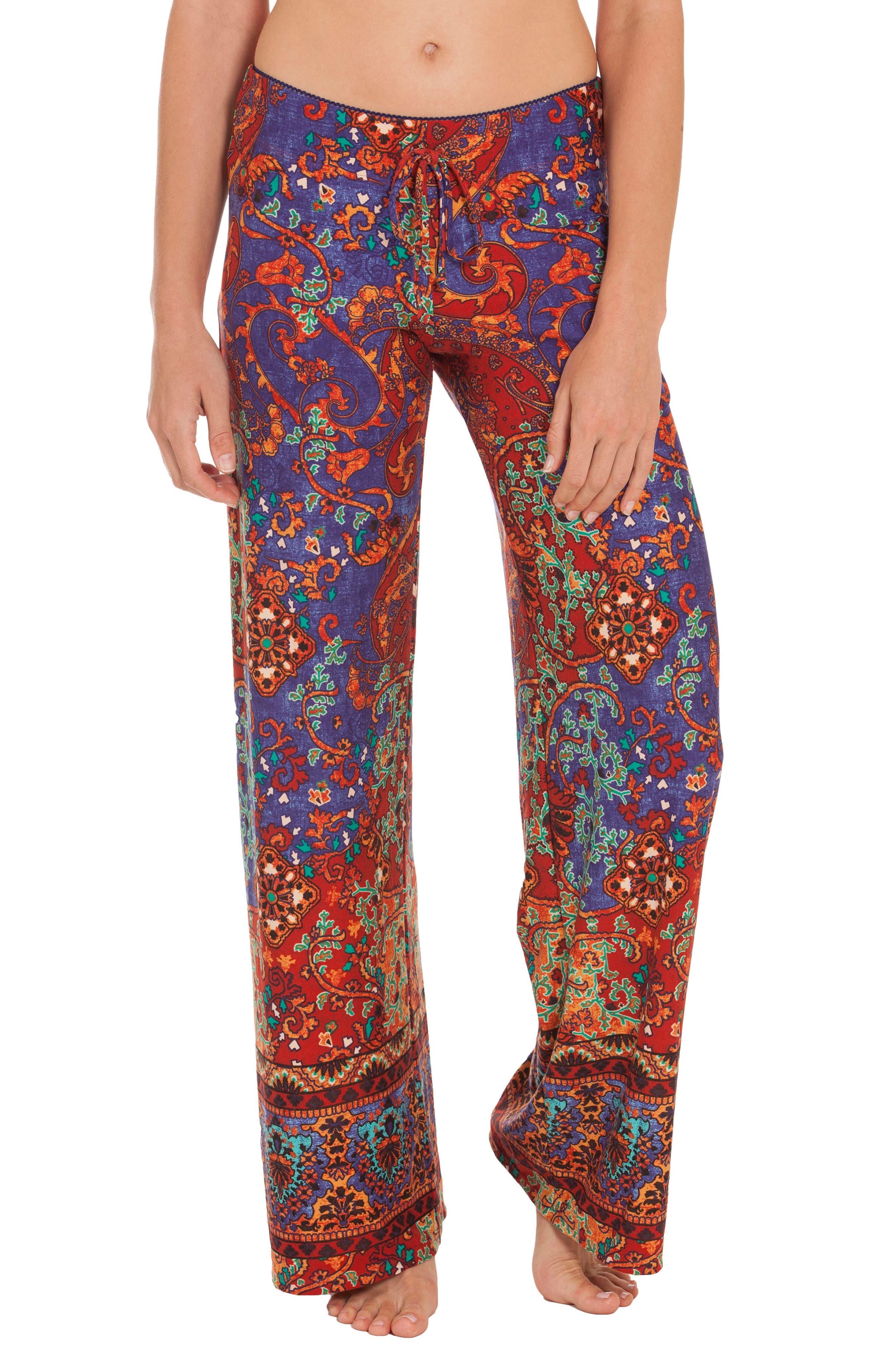 Mosaic Print Pants,                         Main,                         color, 800