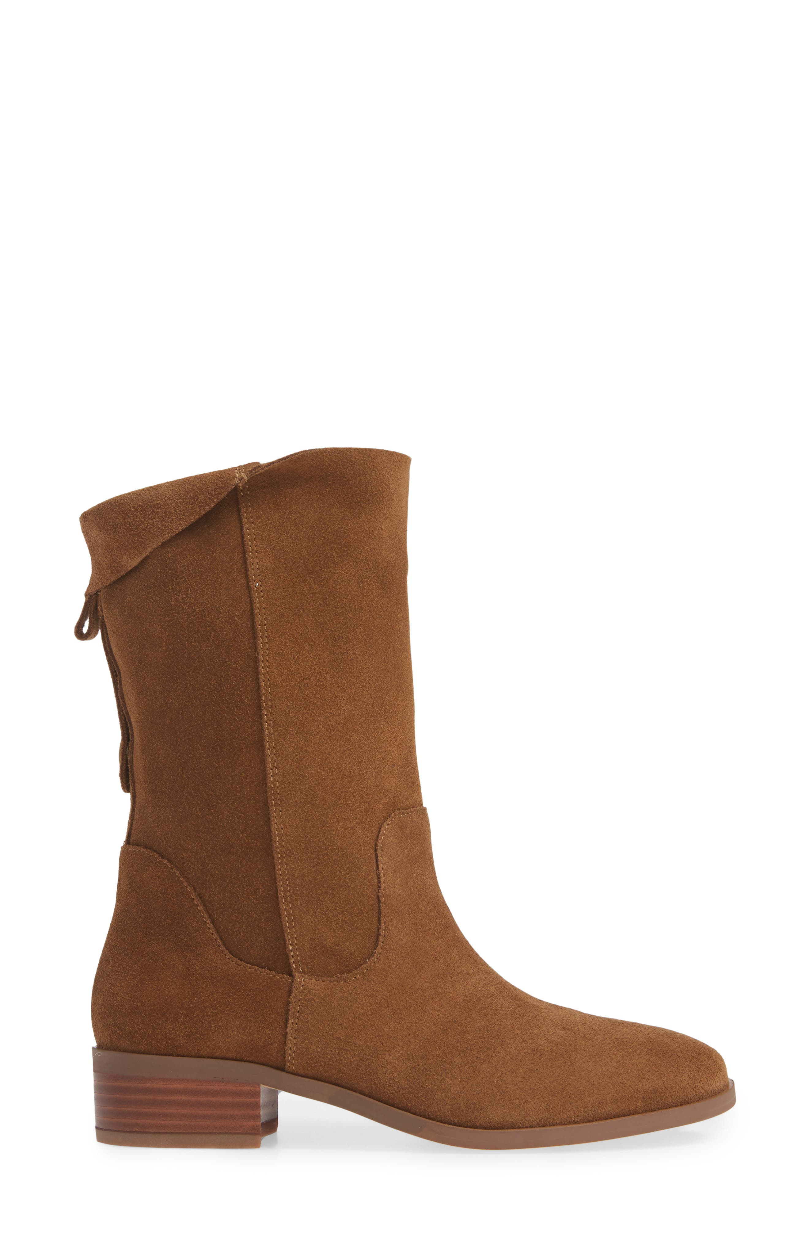 Calanth Bootie,                             Alternate thumbnail 3, color,                             TOBACCO SUEDE