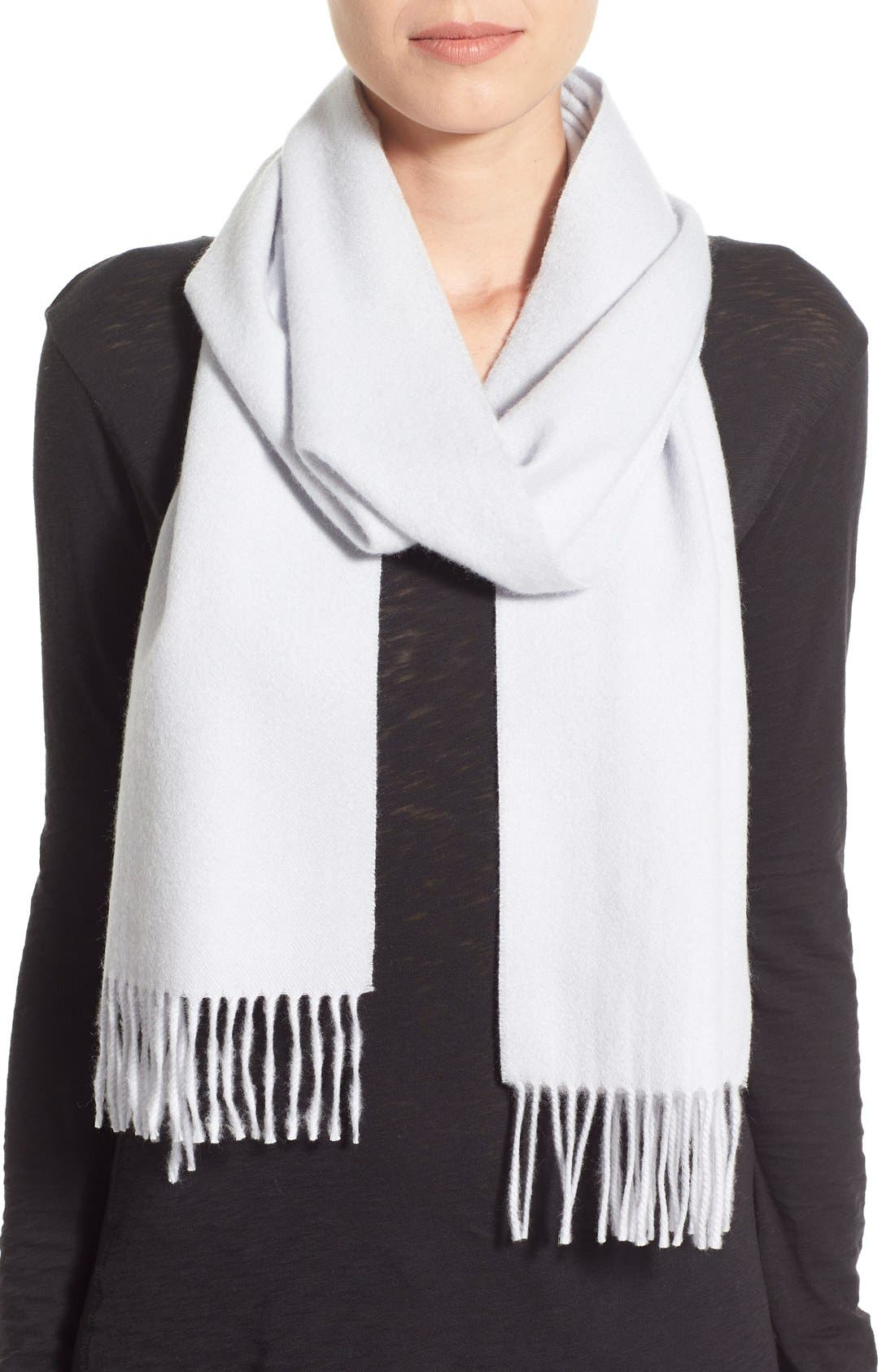 Solid Woven Cashmere Scarf,                             Main thumbnail 4, color,