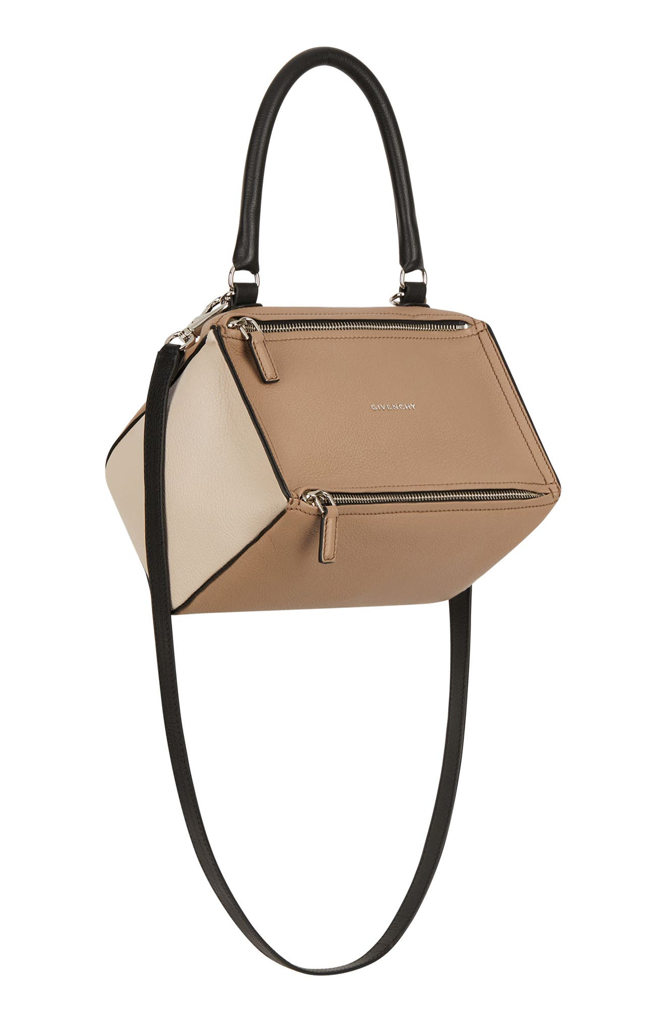 Small Pandora Box Tricolor Leather Crossbody Bag,                             Alternate thumbnail 4, color,                             250