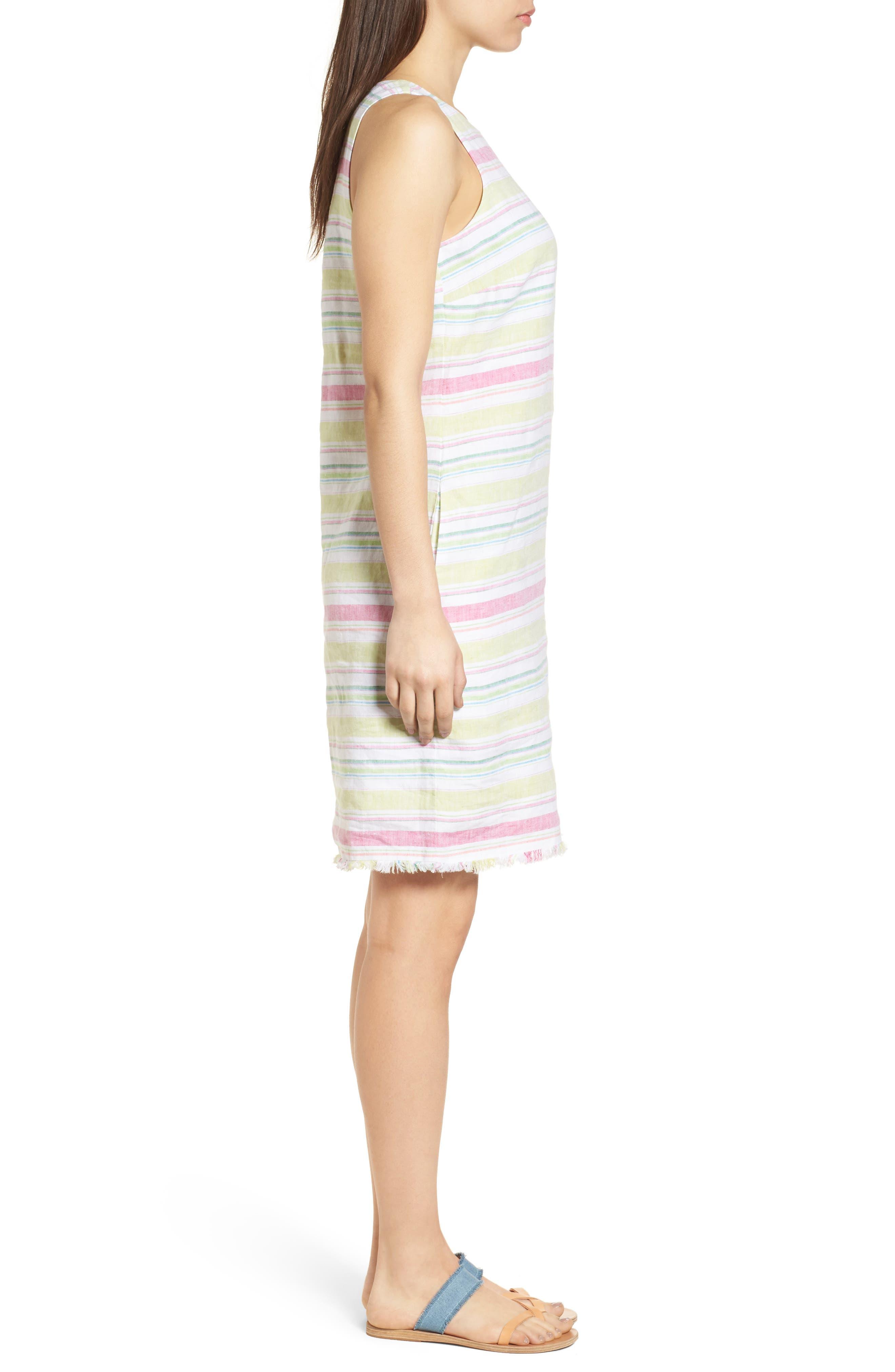 Tulum Stripe Shift Dress,                             Alternate thumbnail 3, color,                             700