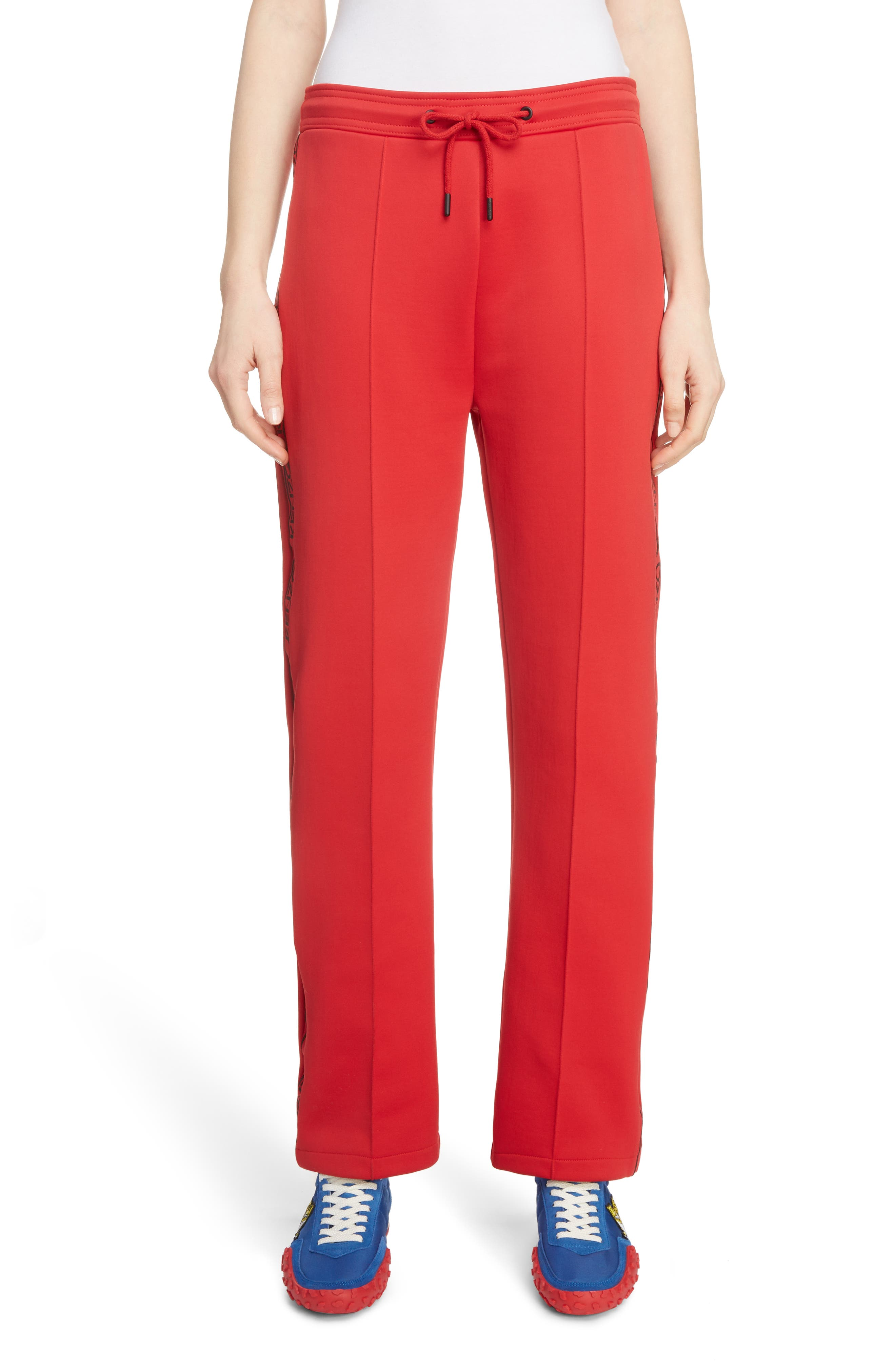 Sport Crop Track Pants, Main, color, JERSEY RED