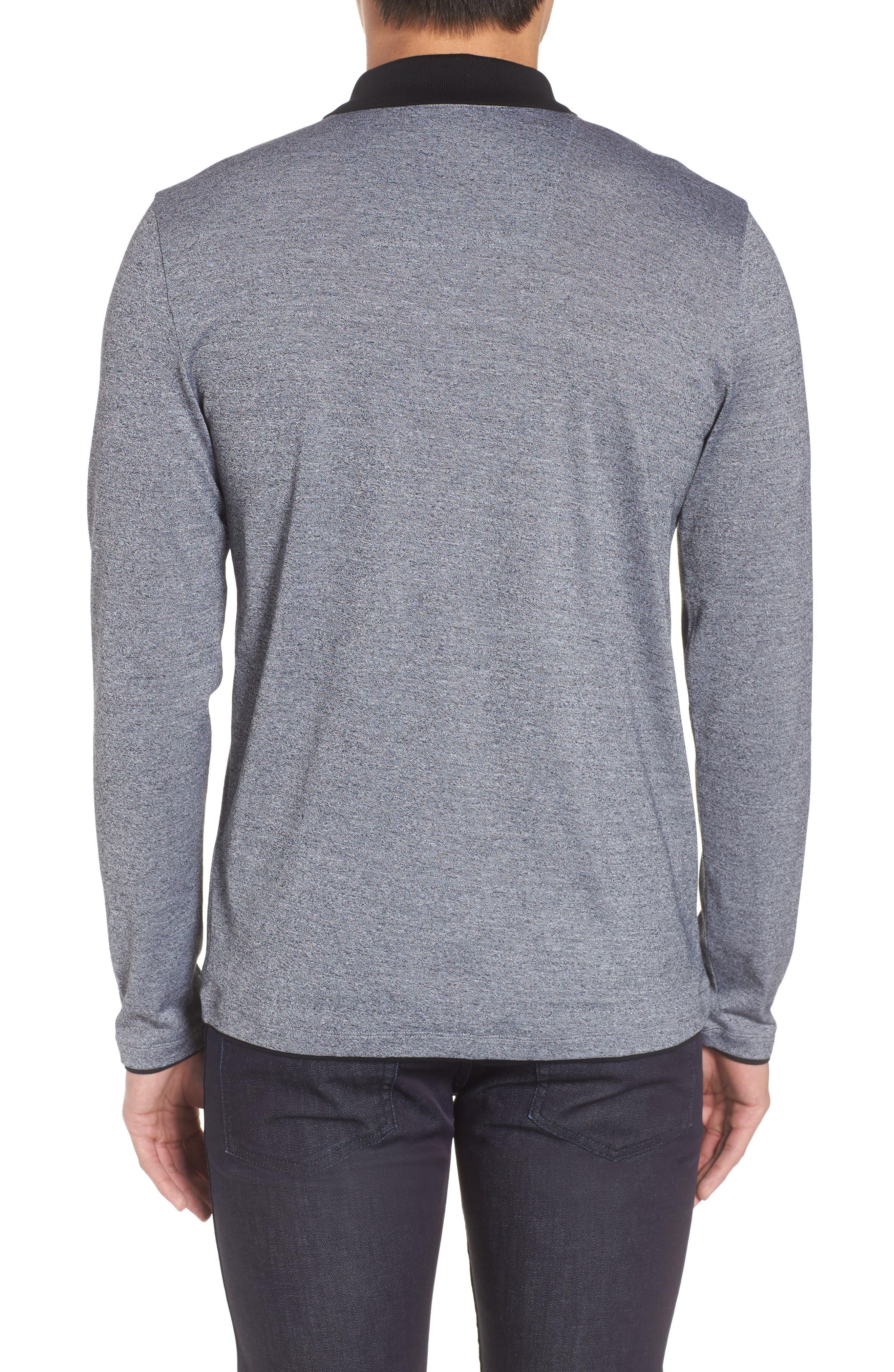 Paschal Mouline Slim Fit Polo Shirt,                             Alternate thumbnail 2, color,                             001