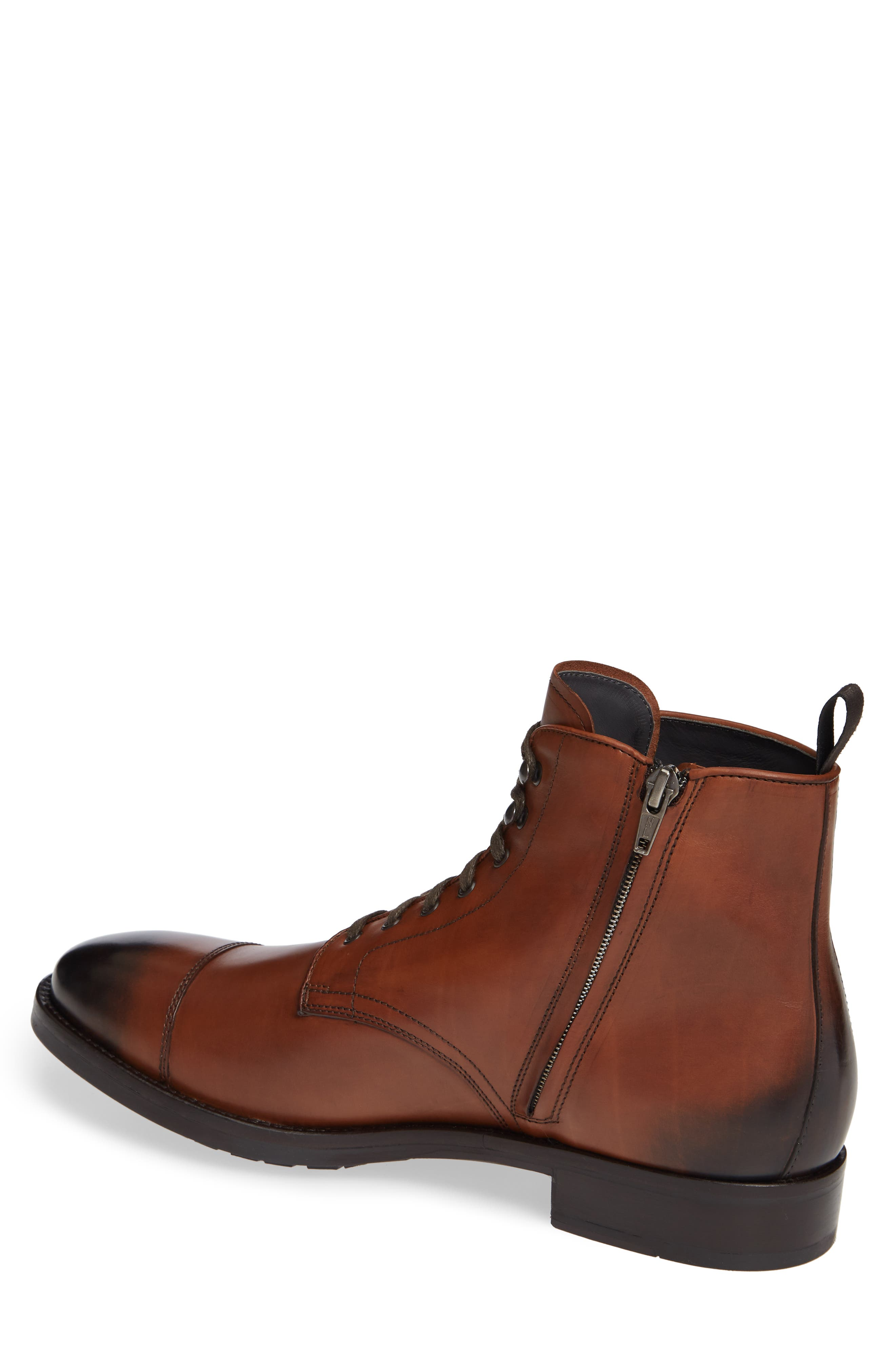 Concord Cap Toe Boot,                             Alternate thumbnail 2, color,                             BROWN LEATHER