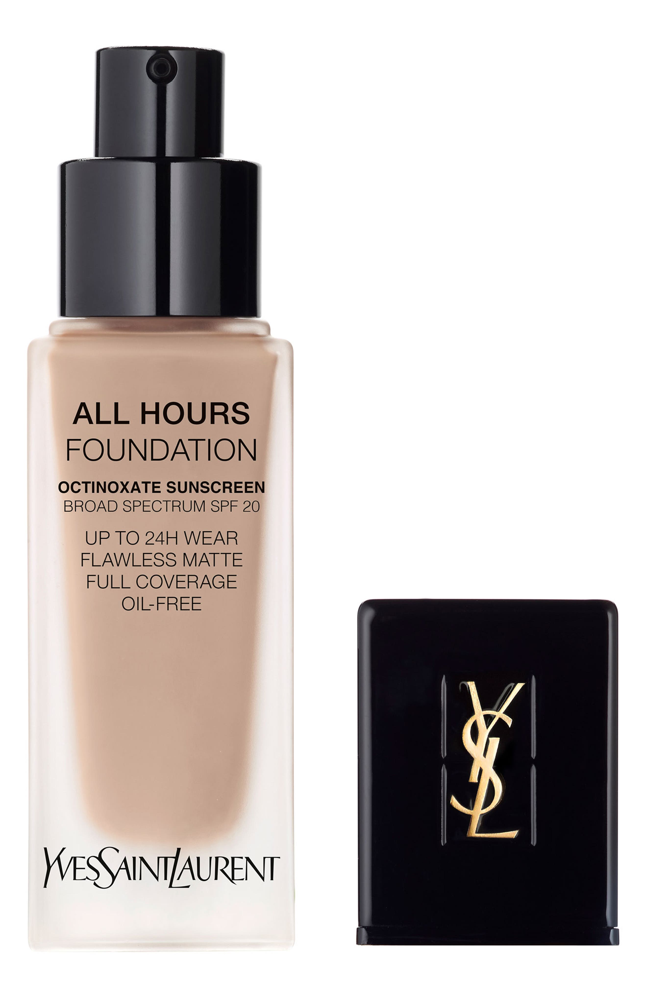 Yves Saint Laurent All Hours Full Coverage Matte Foundation Spf 20 - Br20 Cool Ivory