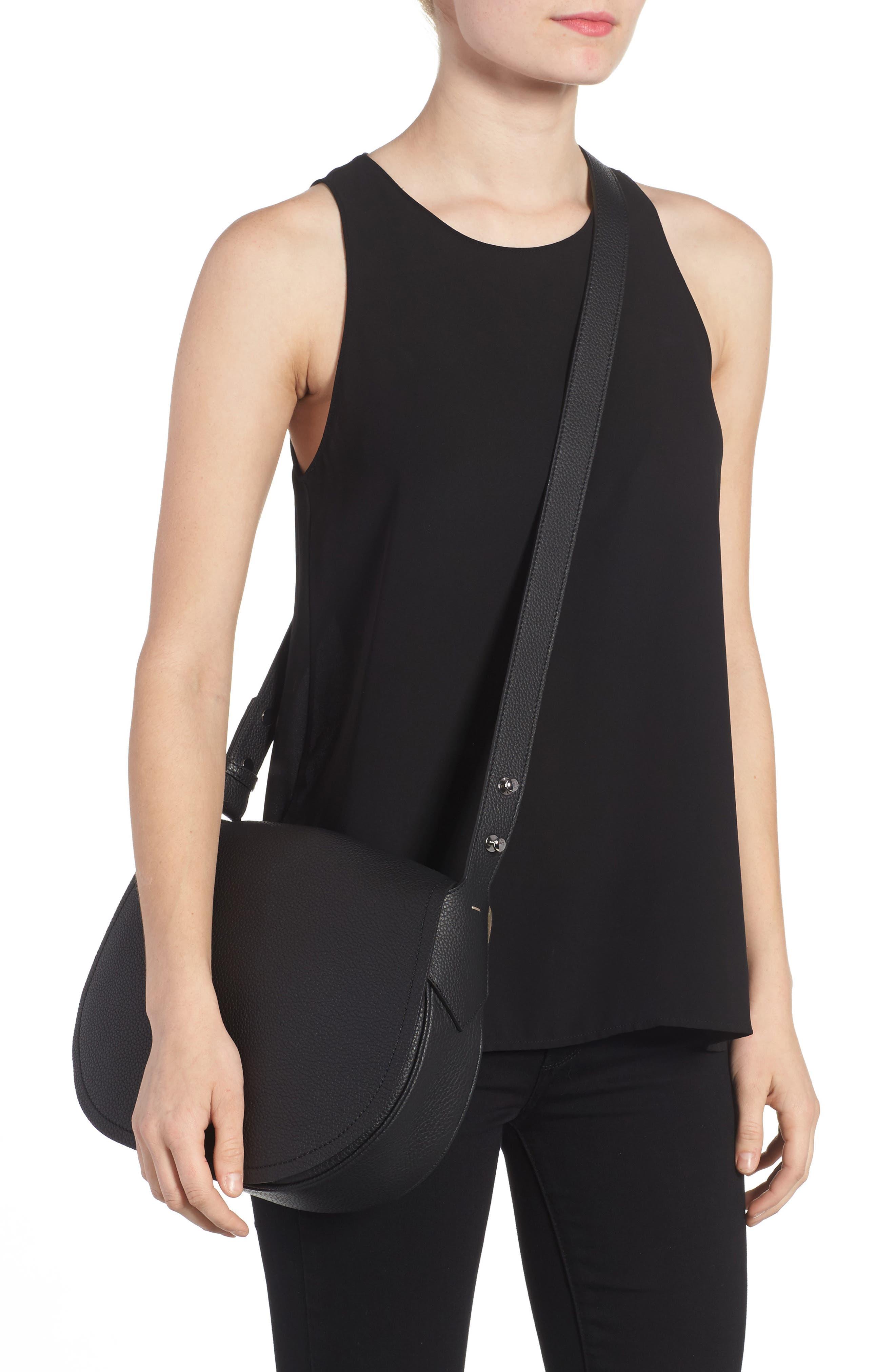 Small Valeria Leather Crossbody Bag,                             Alternate thumbnail 4, color,