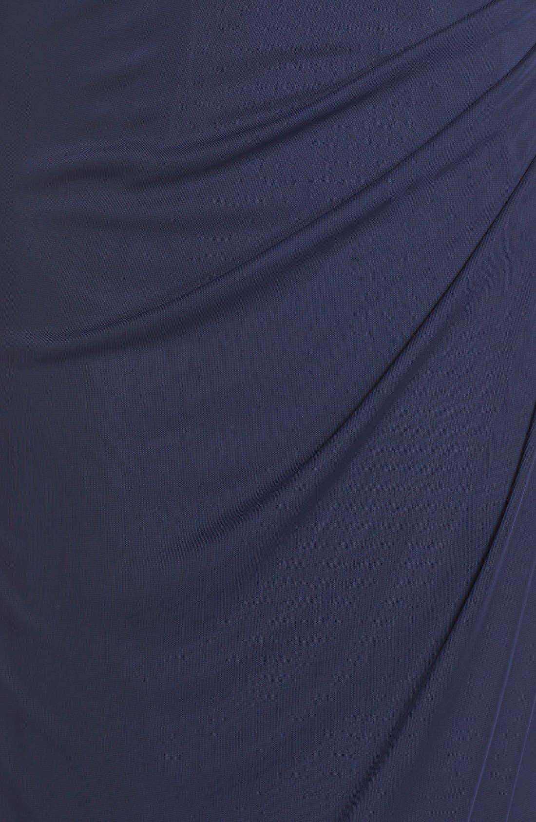 Lace Bodice Empire Gown,                             Alternate thumbnail 5, color,                             400
