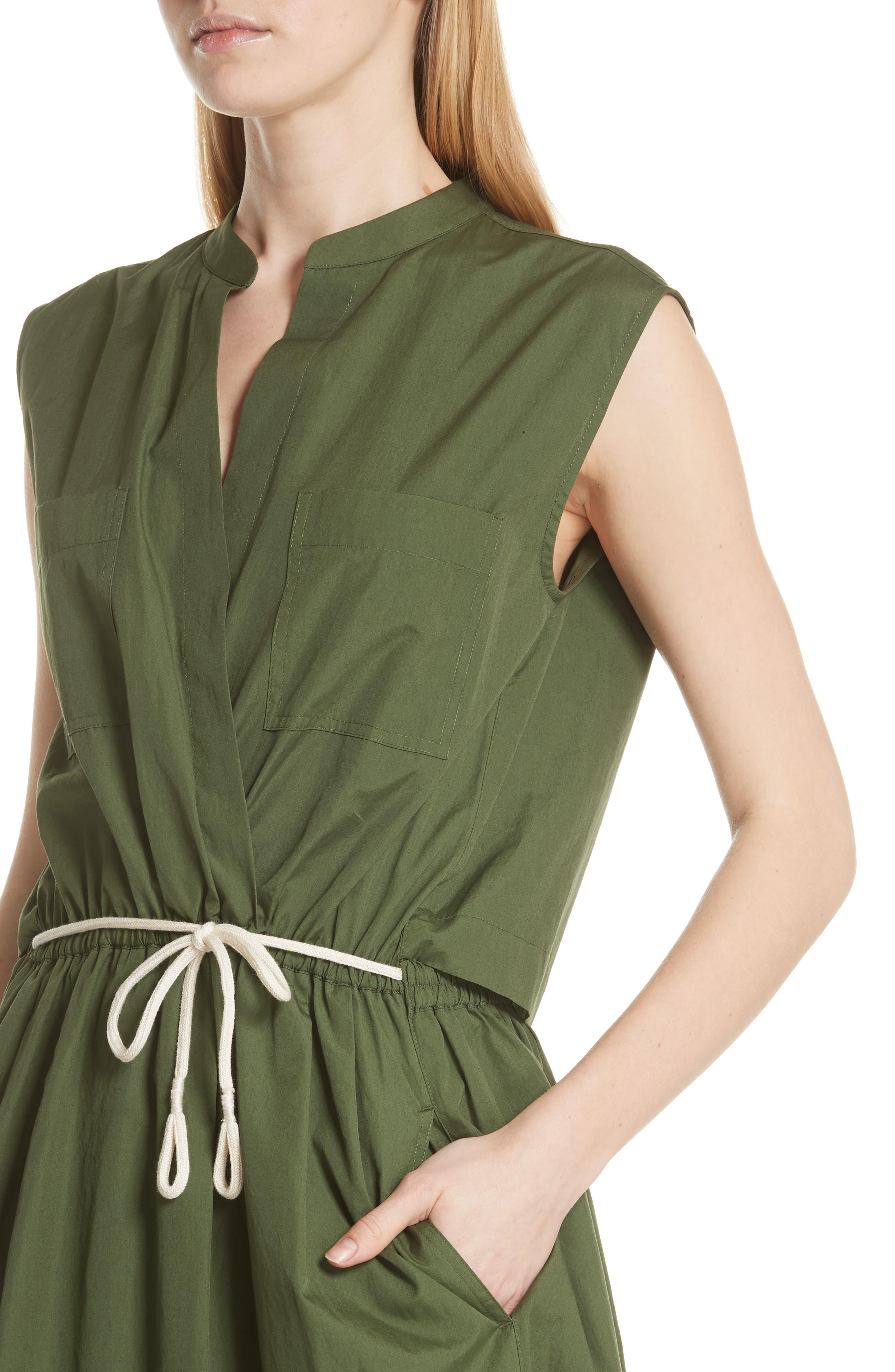 Back Cutout Cotton Utility Dress,                             Alternate thumbnail 7, color,